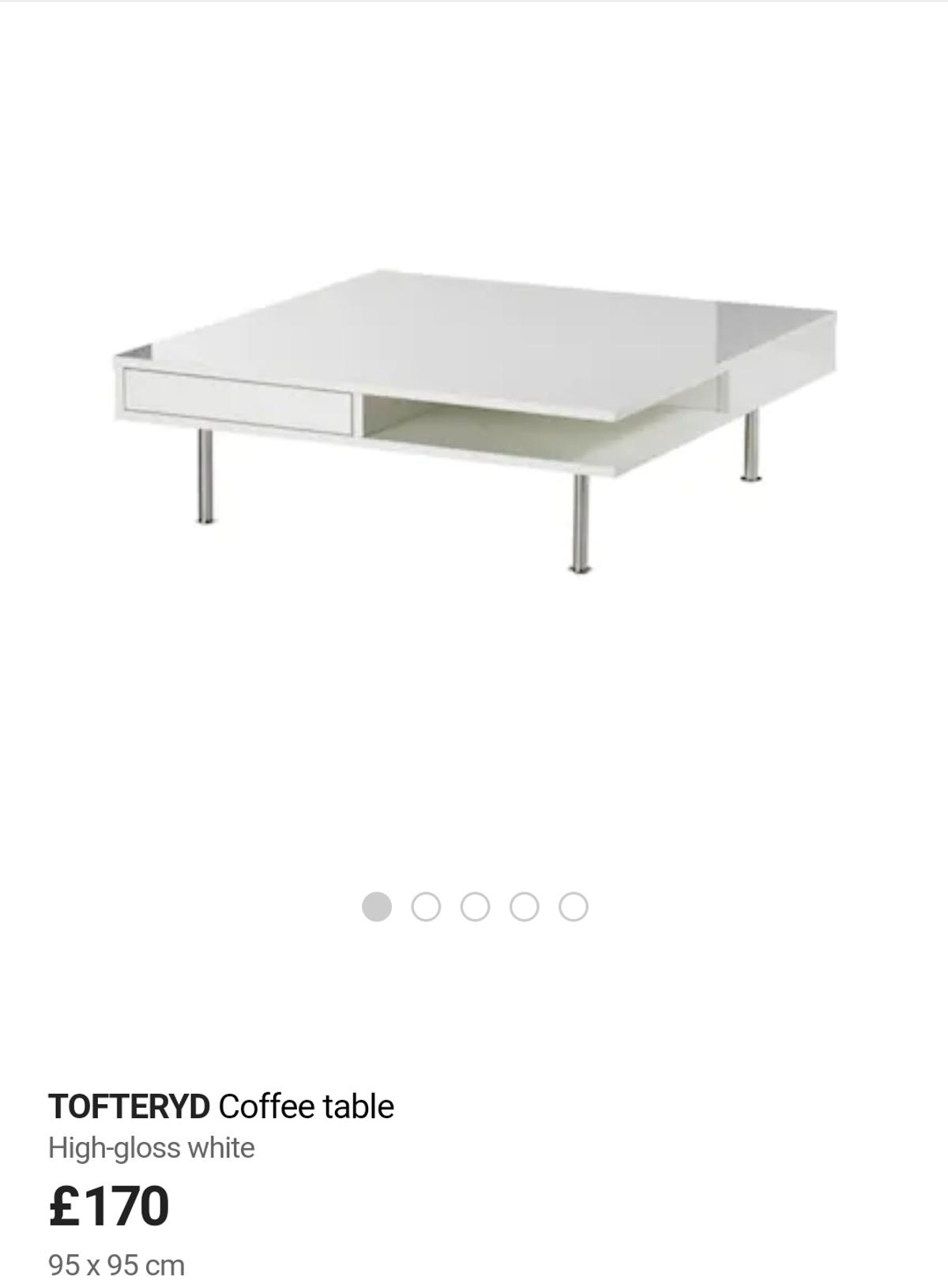 Ikea Tofteryd White Gloss Coffee Table New In E16 London For