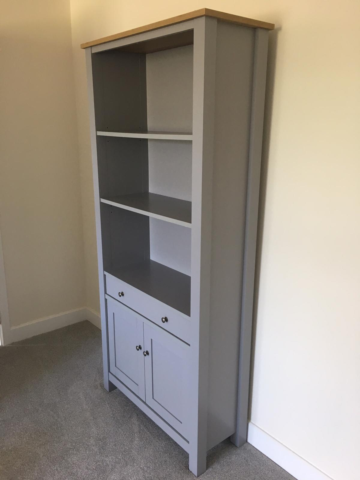 Next Stanton Grey Oak Tall Bookcase In Blaby For 120 00