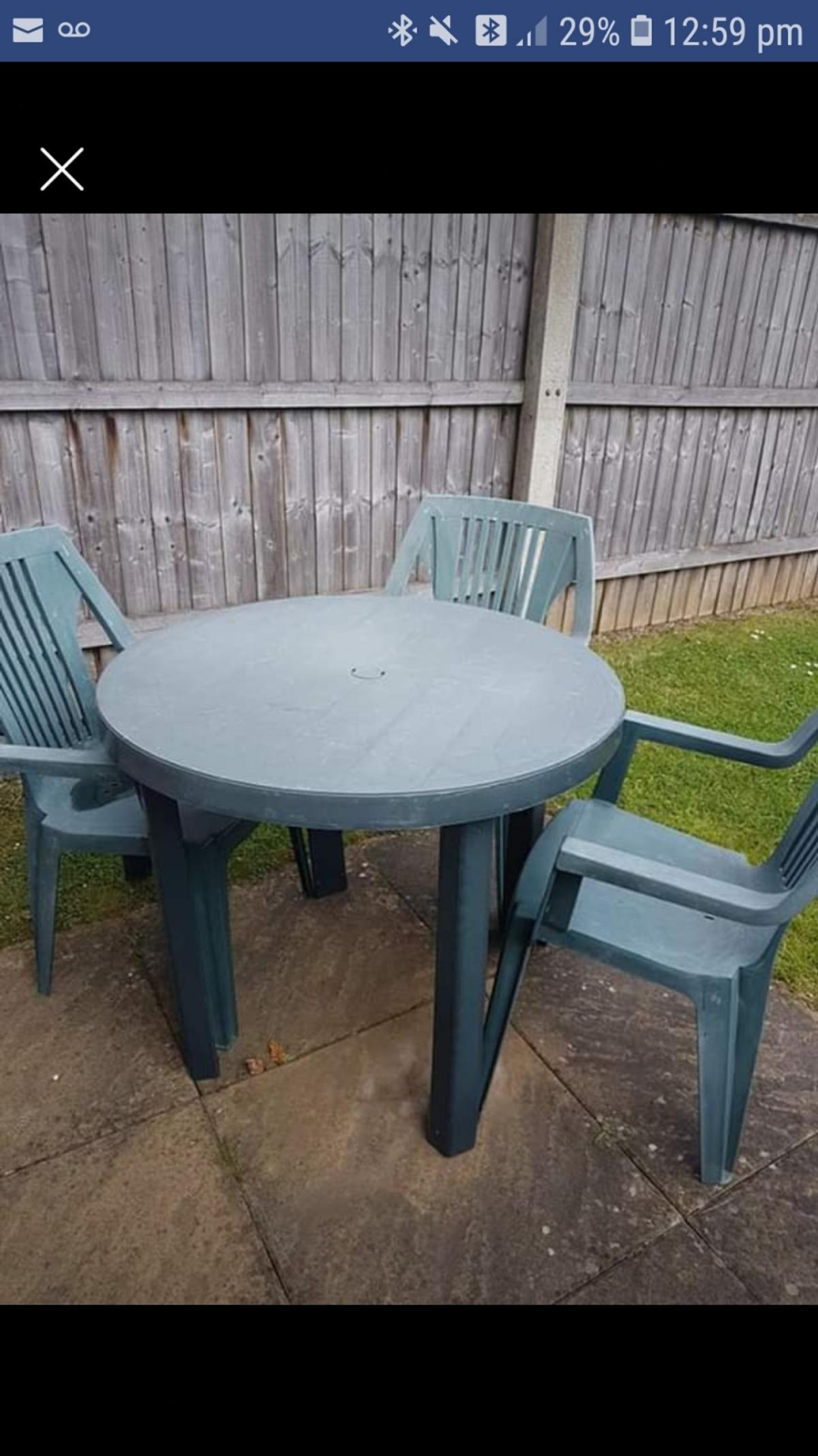 Plastic Green Garden Table Chairs