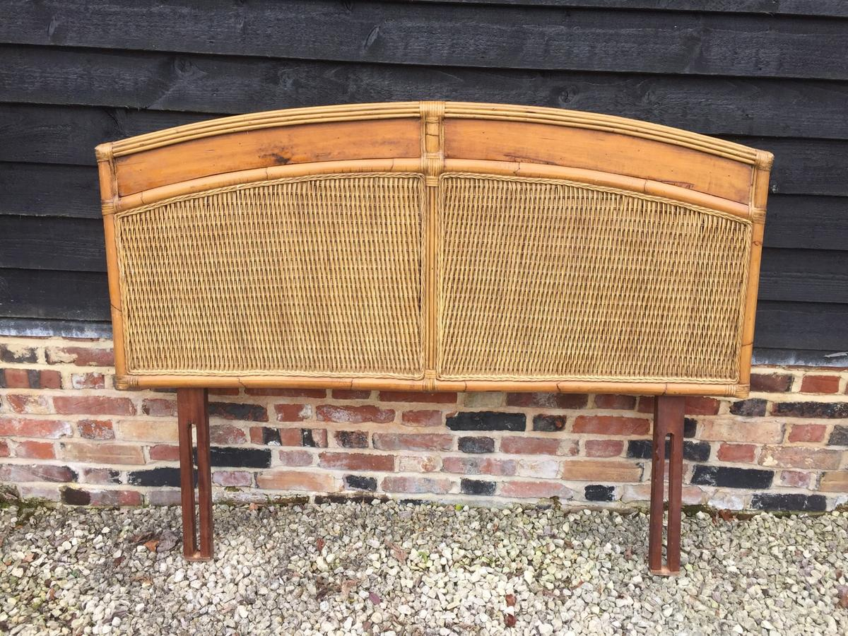Vintage Boho Wicker Bamboo Headboard Kingsize In Stanbridge For 60 00 For Sale Shpock