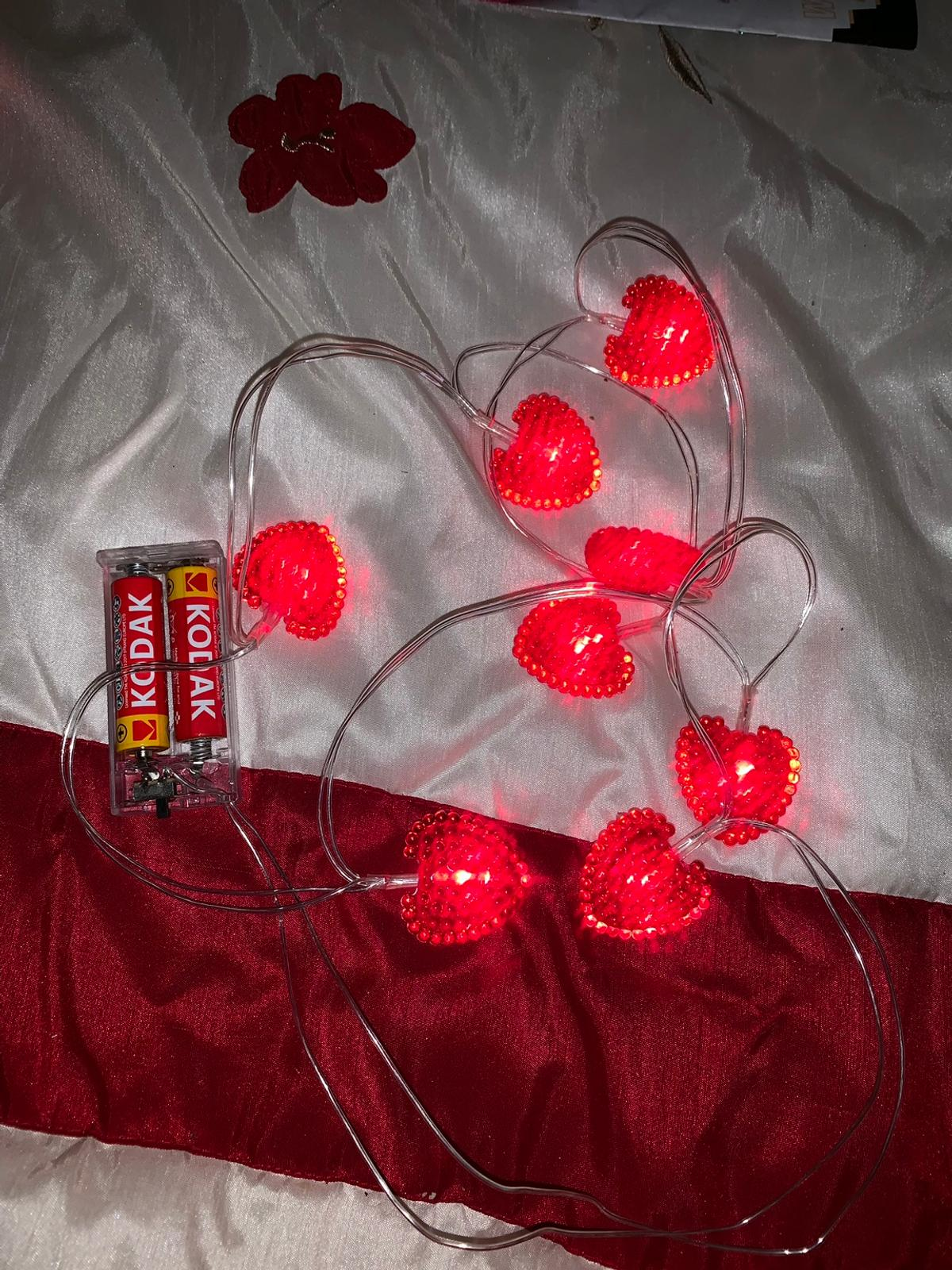 Red string lights hearts in WS2 Walsall for £8 00 for sale