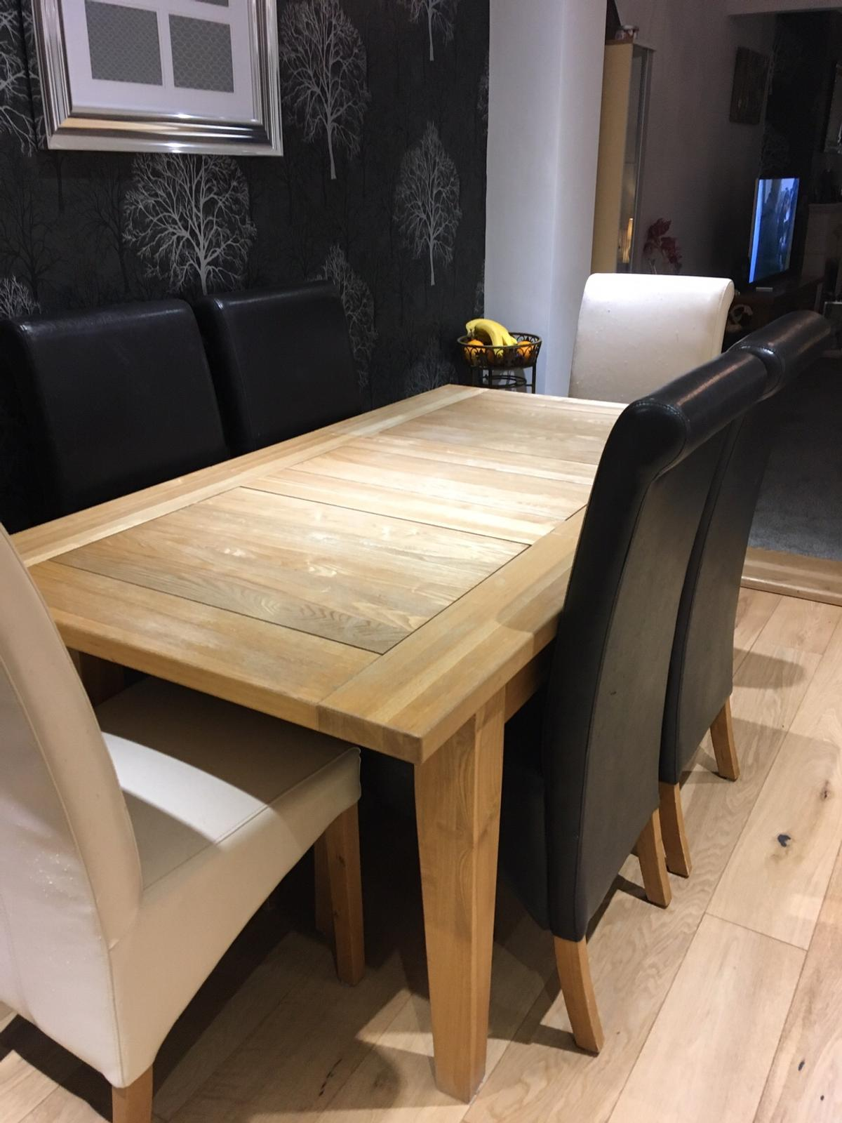 Solid Oak Dining Table Chairs
