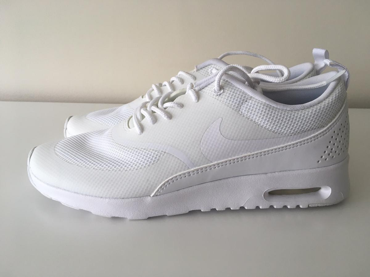 Details about Nike Air Max Thea Jacquard Black White Trainers Size UK 4