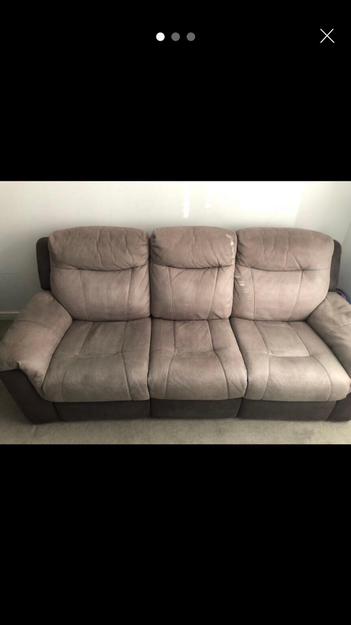 3 seat recliner sofa and 2 seat cuddle chair