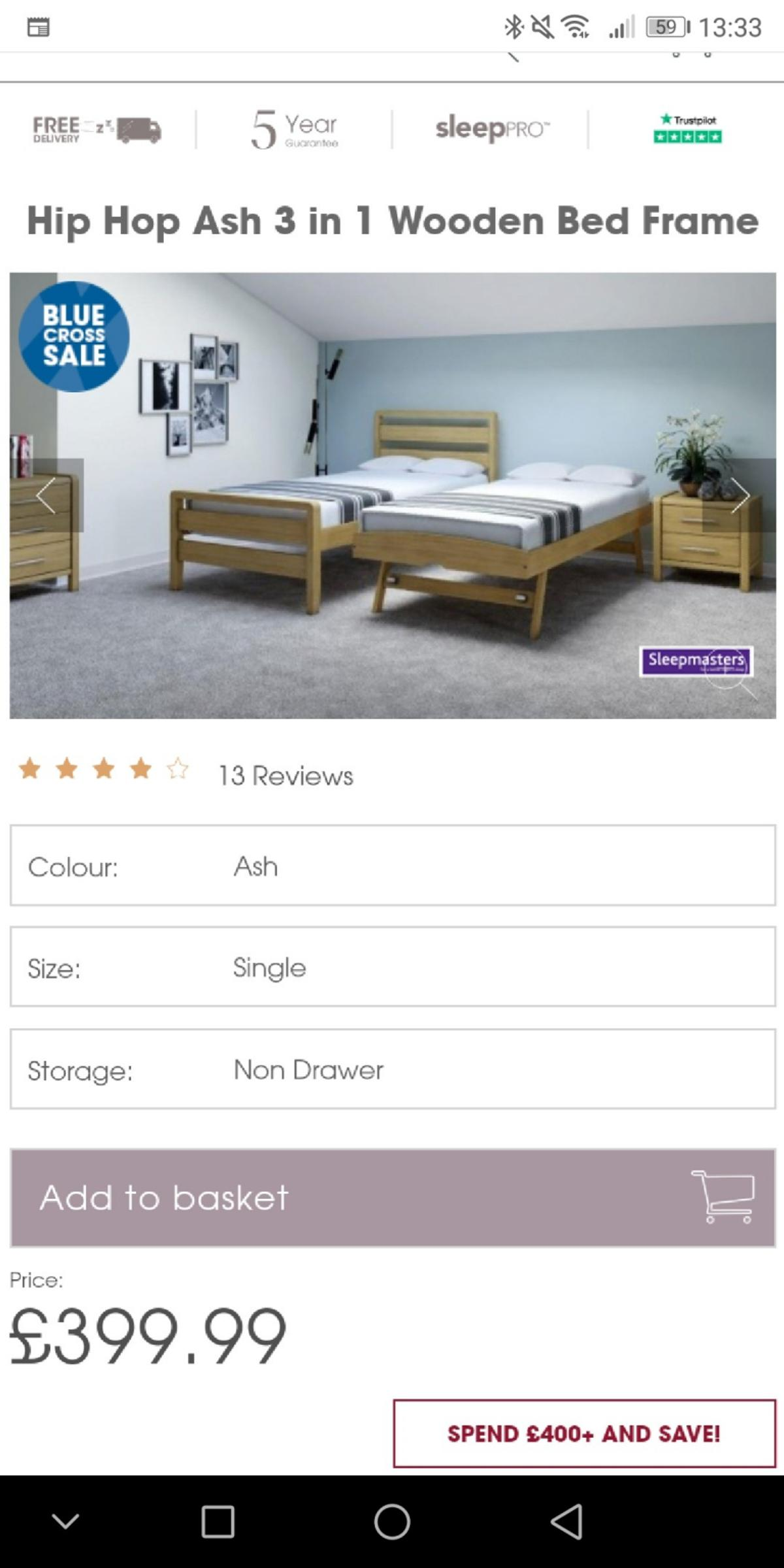 Single Bed With Trundle To Convert To Double In L19 Liverpool For
