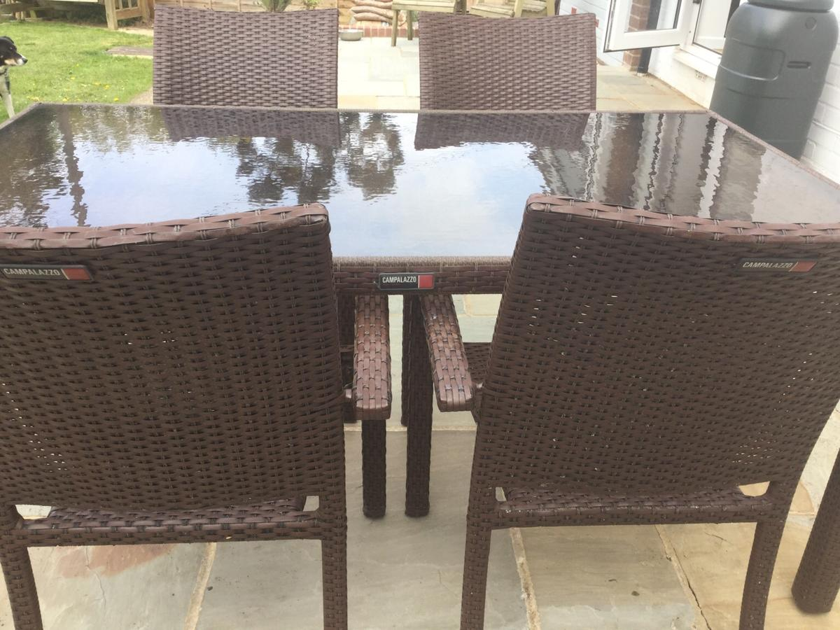 Fantastic Rattan Garden Dining Table And Chairs Download Free Architecture Designs Aeocymadebymaigaardcom