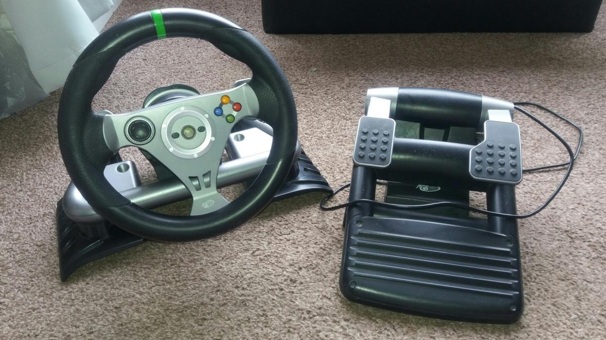 e1b9023119f xbox 360 mad catz steering wheel and pedals in DN31 Grimsby for ...