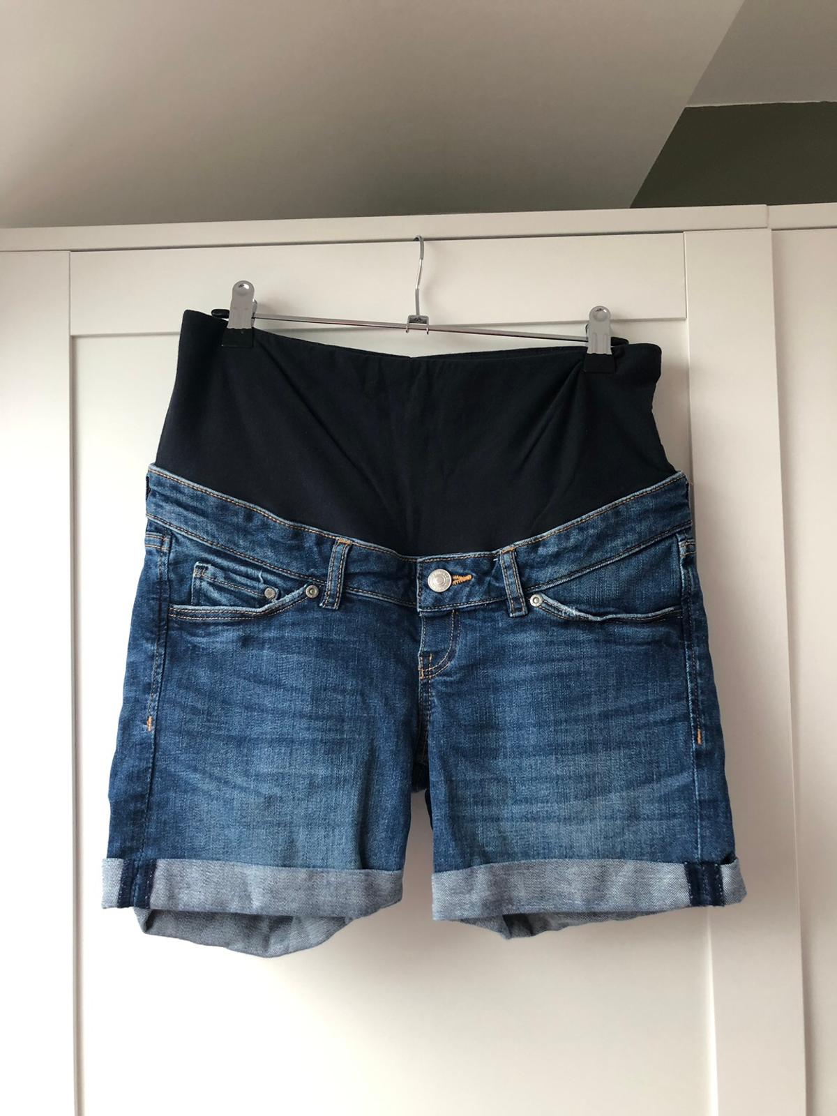 ce026738779f1 H&M Mama Over the bump denim shorts in DE72 Erewash for £4.00 for ...