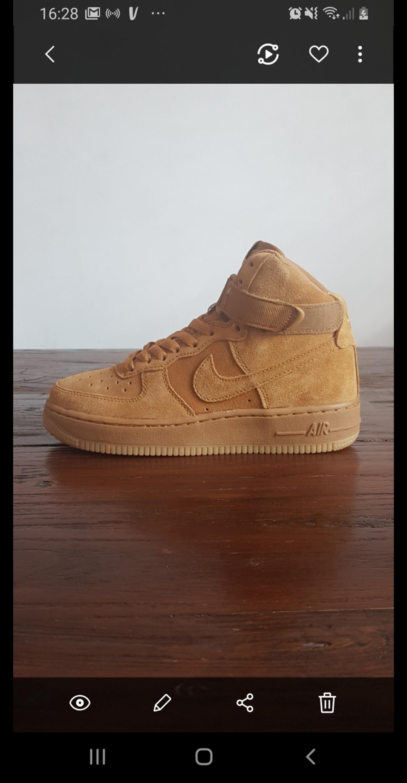 Nike Air Force One Wheat </p>                     </div> 		  <!--bof Product URL --> 										<!--eof Product URL --> 					<!--bof Quantity Discounts table --> 											<!--eof Quantity Discounts table --> 				</div> 				                       			</dd> 						<dt class=
