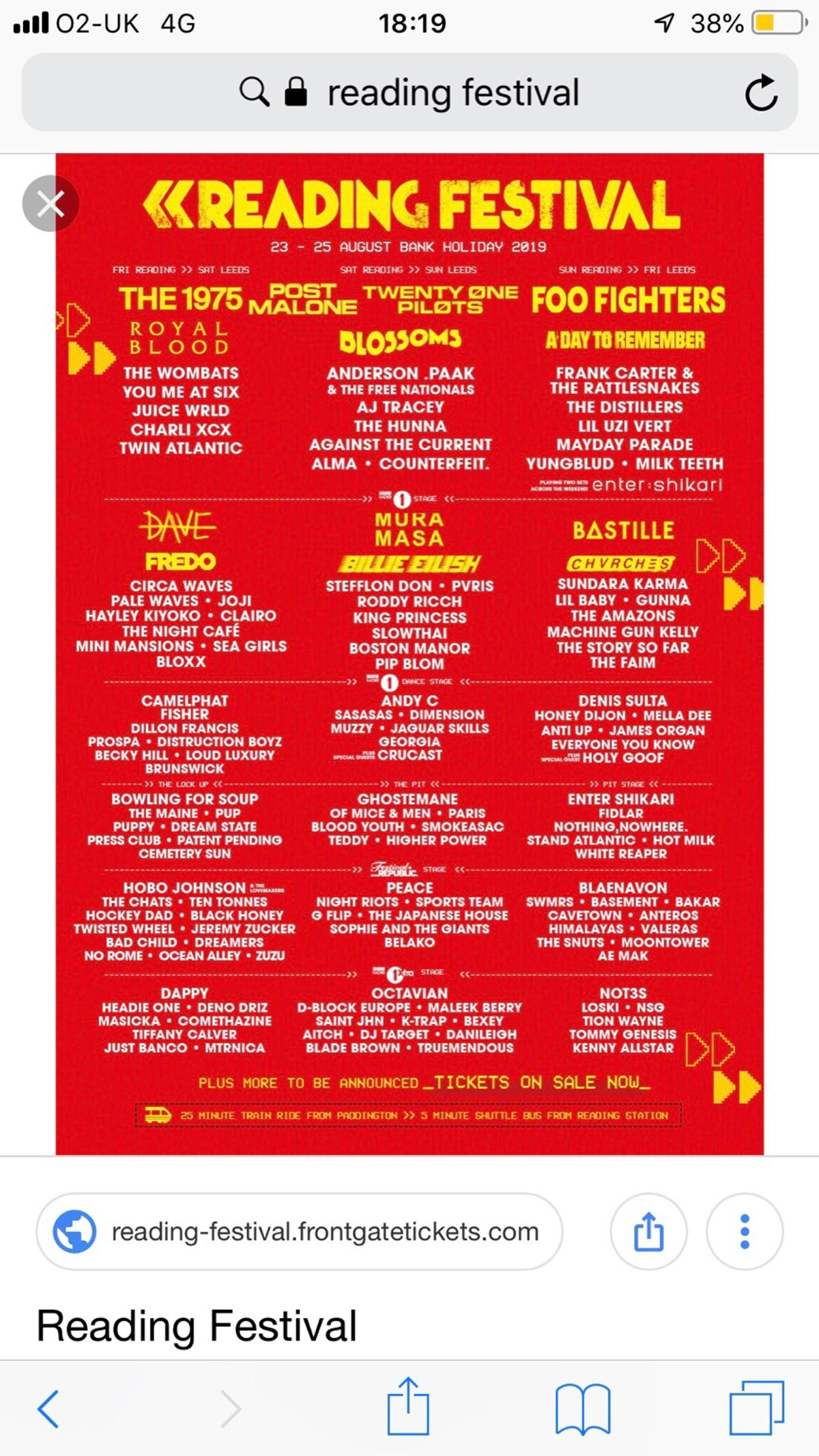 Discounted Reading Festival Tickets!!