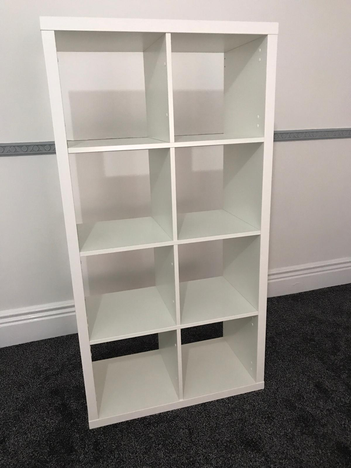 IKEA KALLAX 8 CUBE STORAGE UNIT WHITE