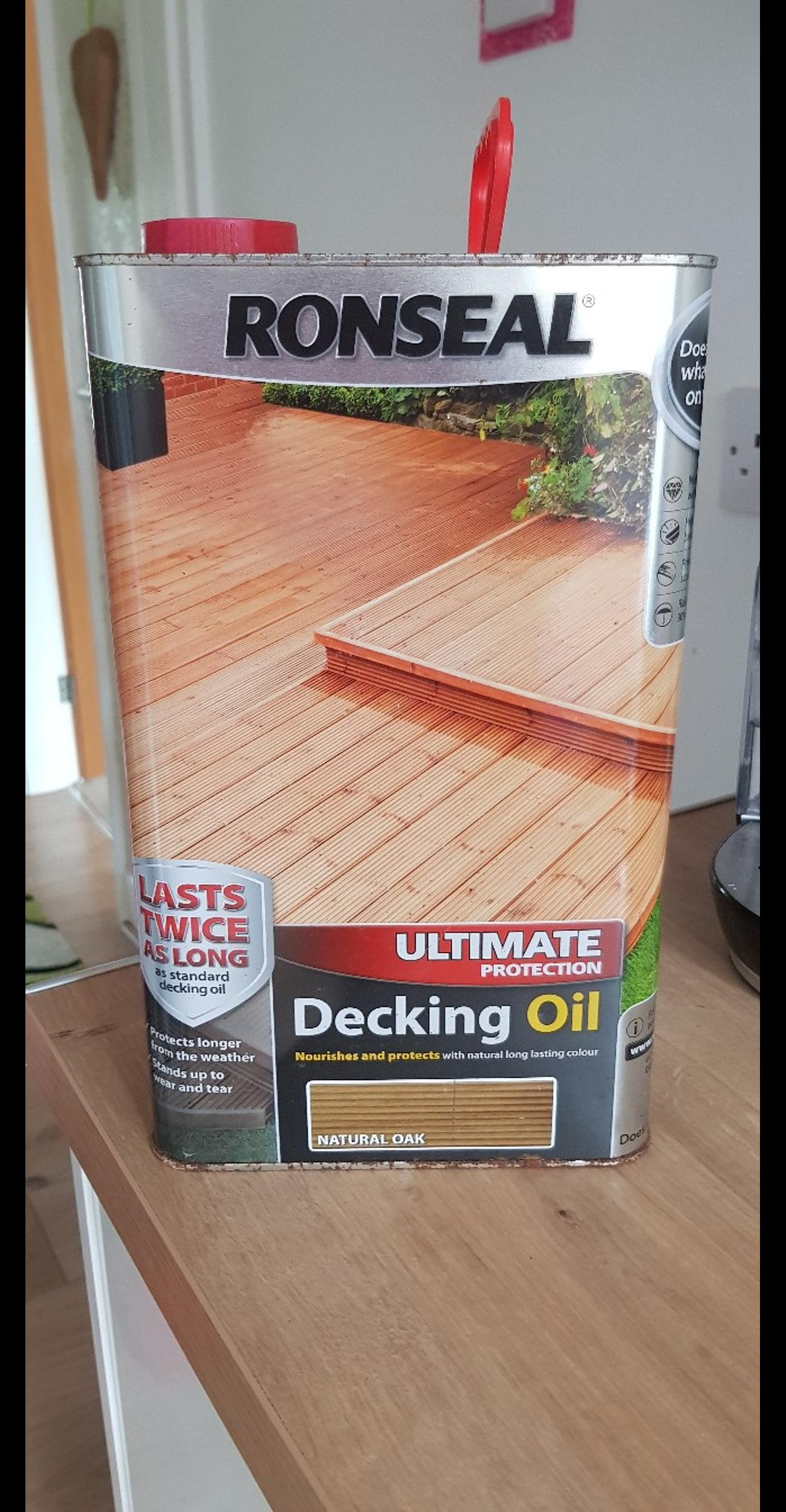 Ronseal Decking Oil Ultimate Protection 5l In B26 Birmingham For 19 00 For Sale Shpock