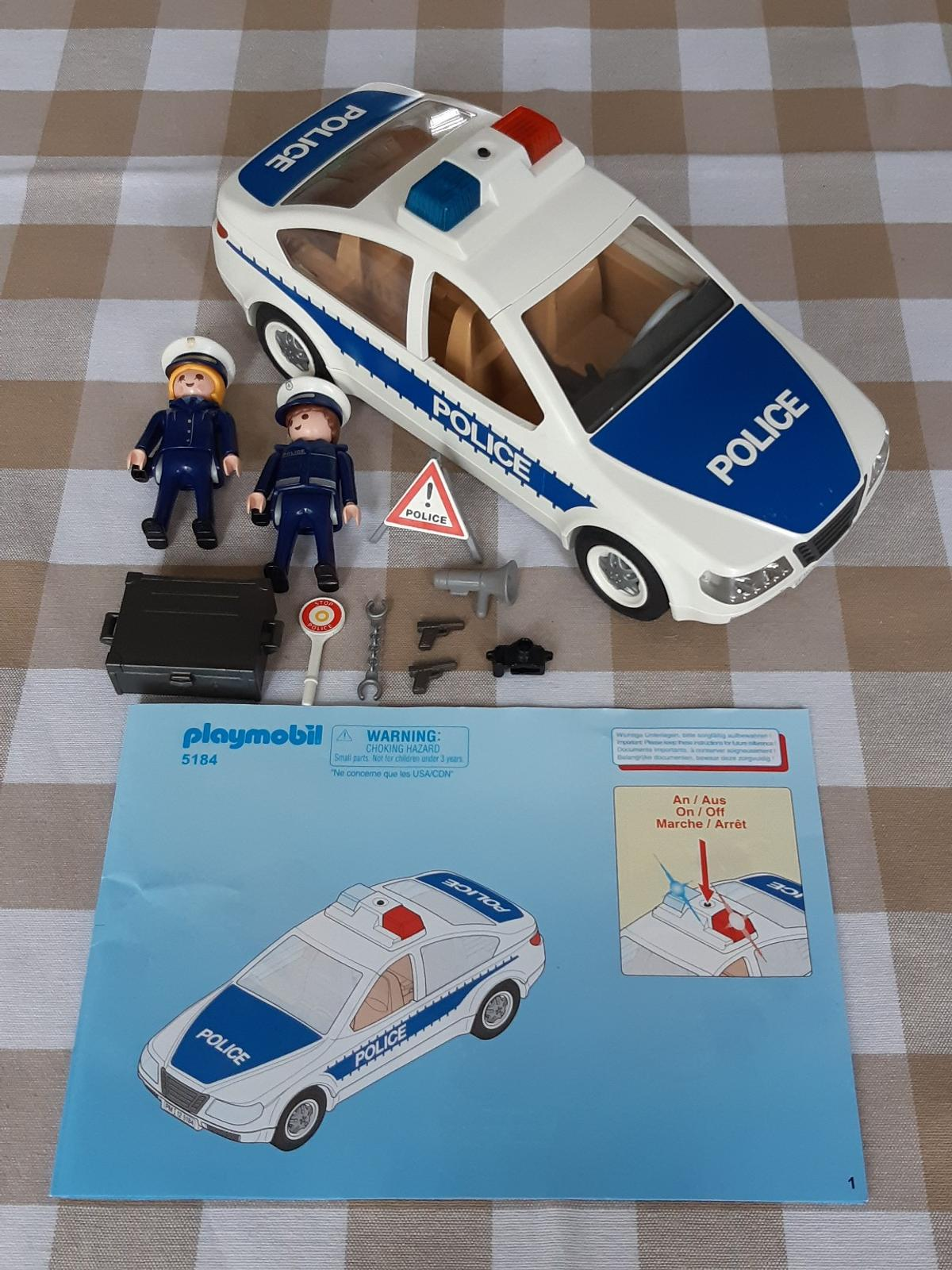 Playmobil Police Car, Flashing lights 5184