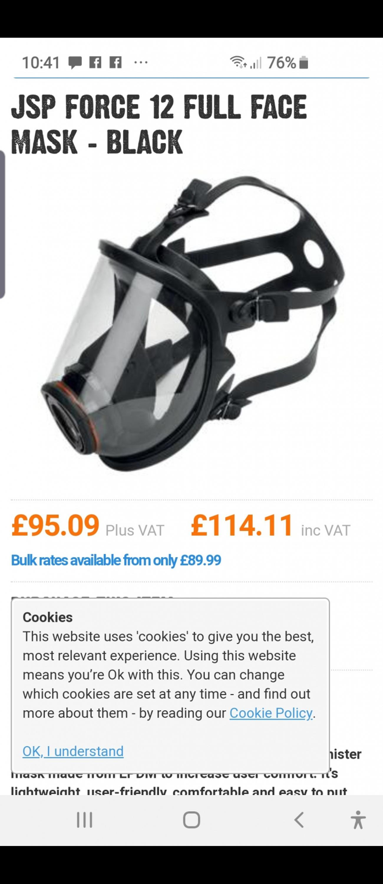gas mask in FY4 Marton for £50 00 for sale - Shpock