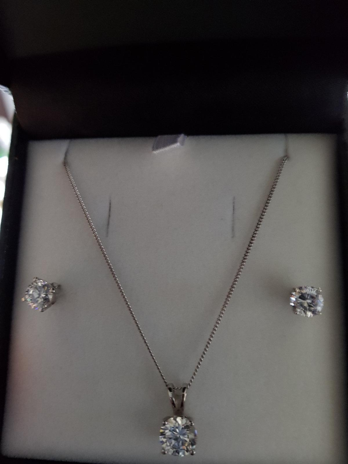 821a8c16b Warren James Silver Necklace And Earrings Sets - Image Of Earring