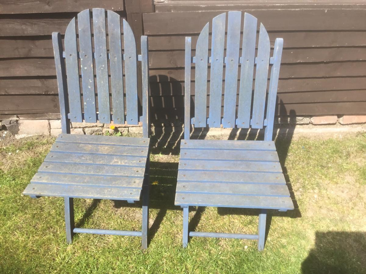 Sensational 2 Firman Old Type Wooden Garden Chairs In B65 Sandwell For Andrewgaddart Wooden Chair Designs For Living Room Andrewgaddartcom