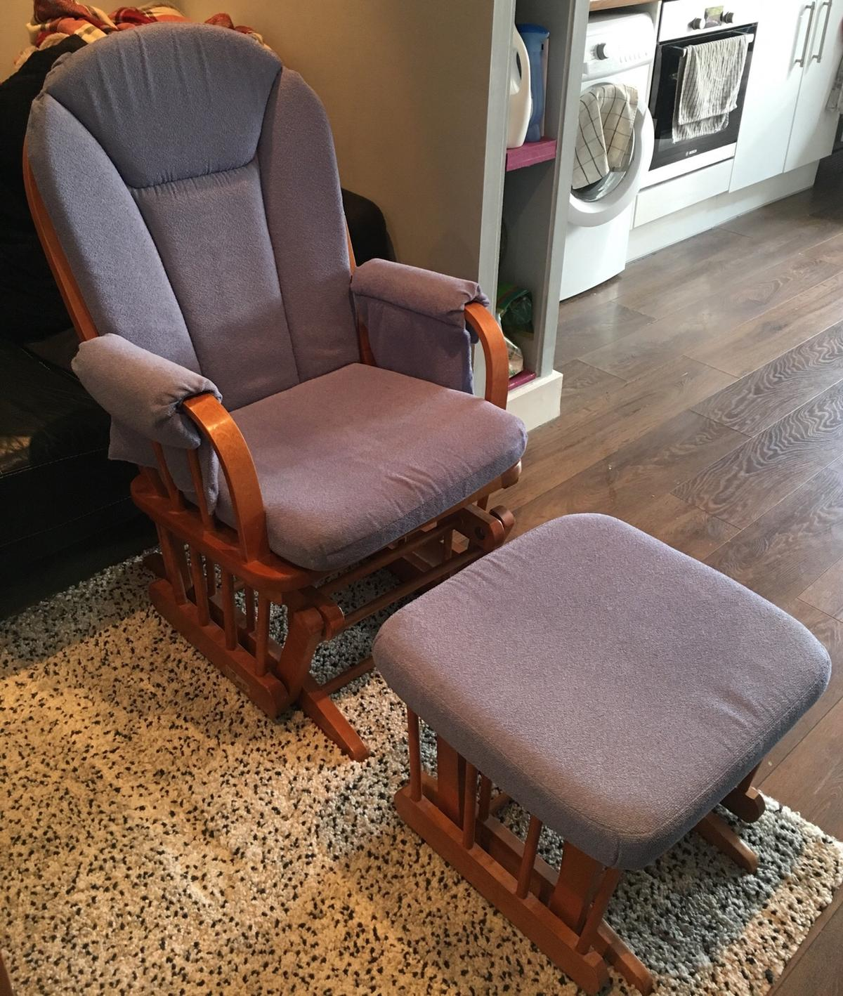 Incredible Dutailier Glider Rocking Nursing Chair Stool Ncnpc Chair Design For Home Ncnpcorg