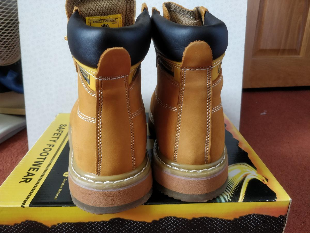 Mens Size 6-12 Leather Steel Toe Cap Safety GROUNDWORK Work Boots Lace Up