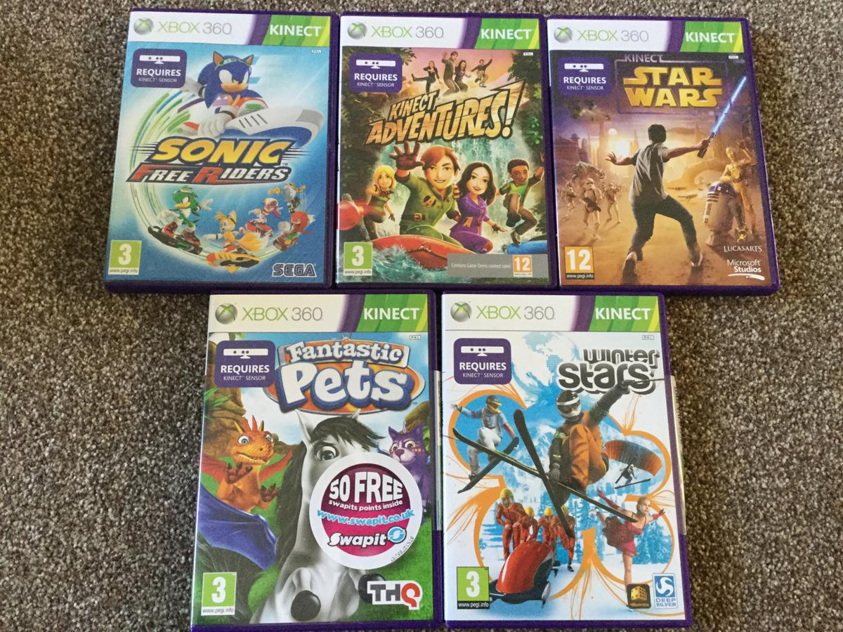 Xbox 360 Kinect Games x 5