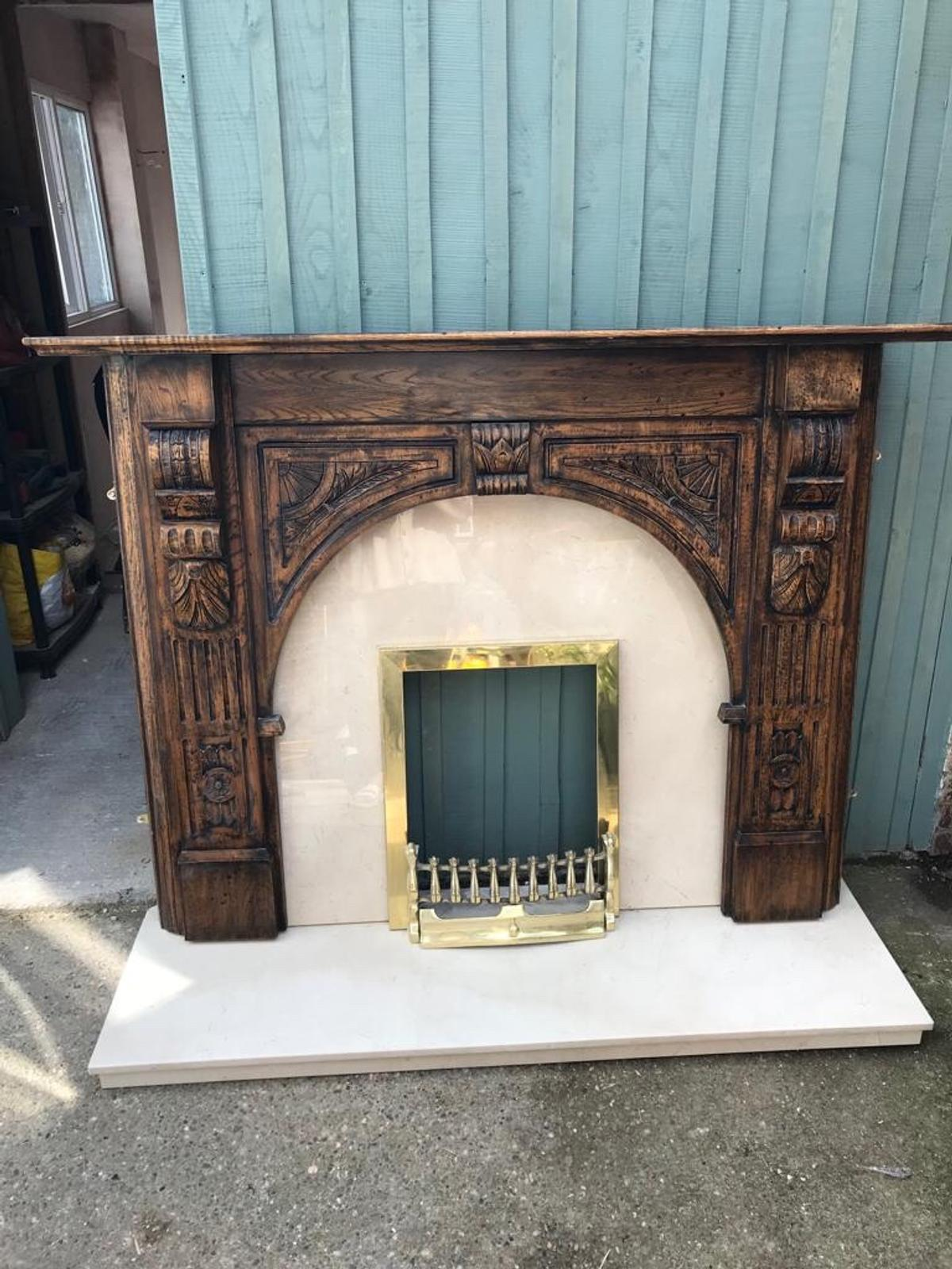 Solid Marble And Wood Fireplace Surround In Rotherham For Free For Sale Shpock
