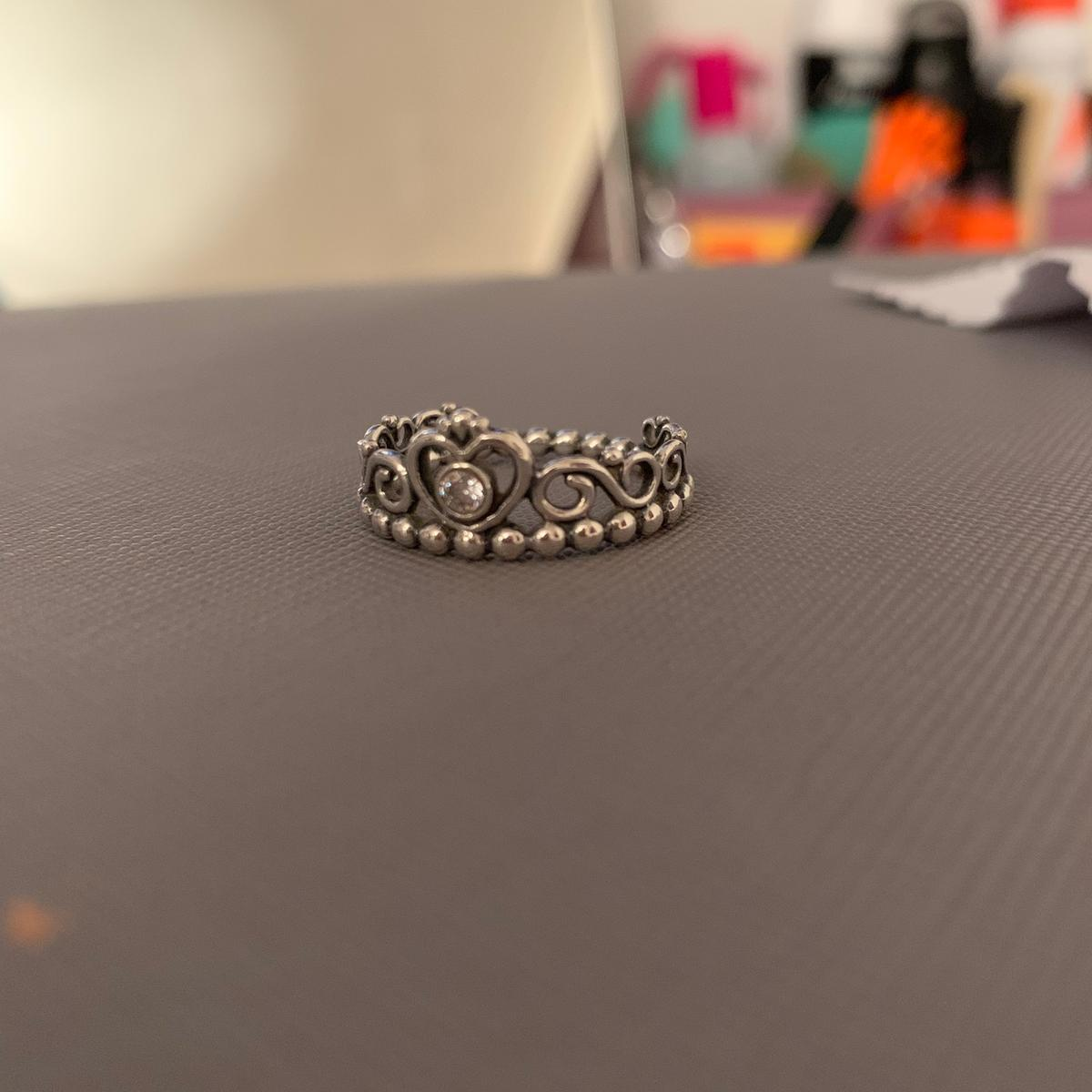 Pandora Crown Ring Silver size 54