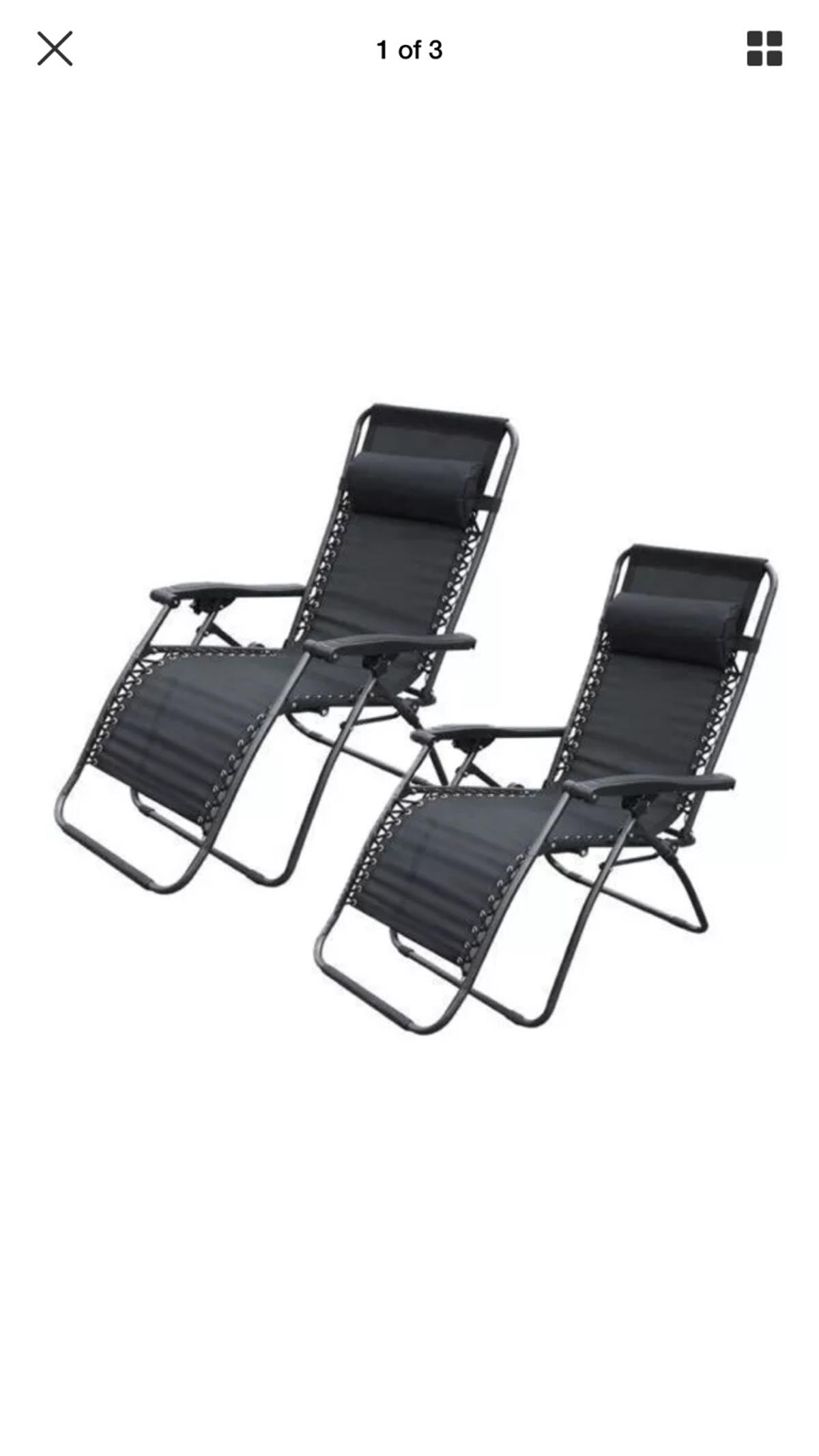 Pleasant 2 X Black Zero Gravity Reclining Chairs Ocoug Best Dining Table And Chair Ideas Images Ocougorg