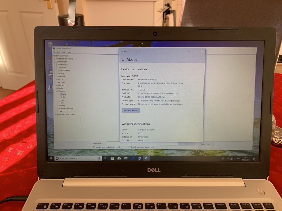 "Dell Inspiron 15"" laptop - like new in MK40 Elstow for £250 00 for"