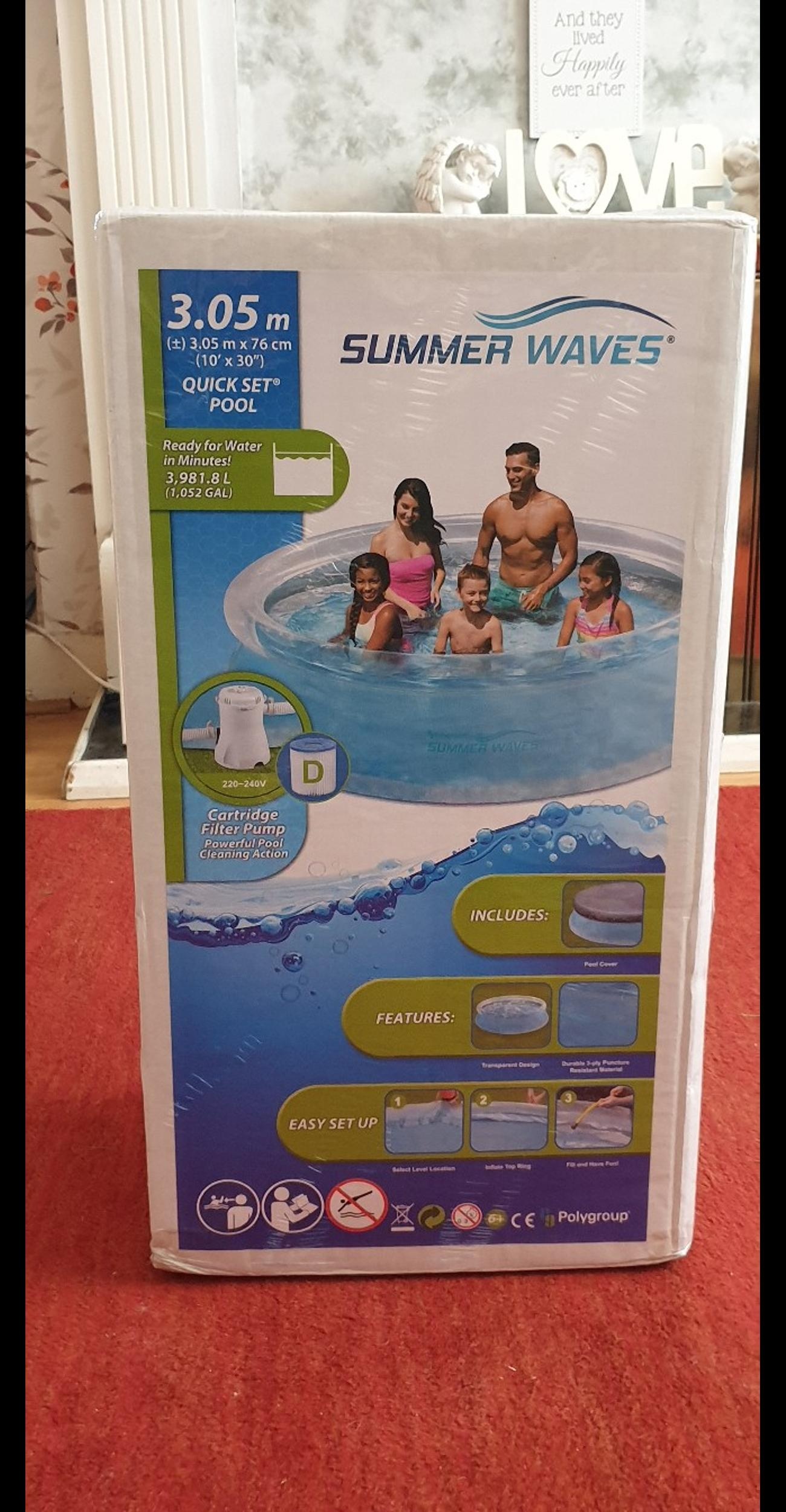10ft Swimming pool with cover and pump in CH44 Wirral für 70 ...