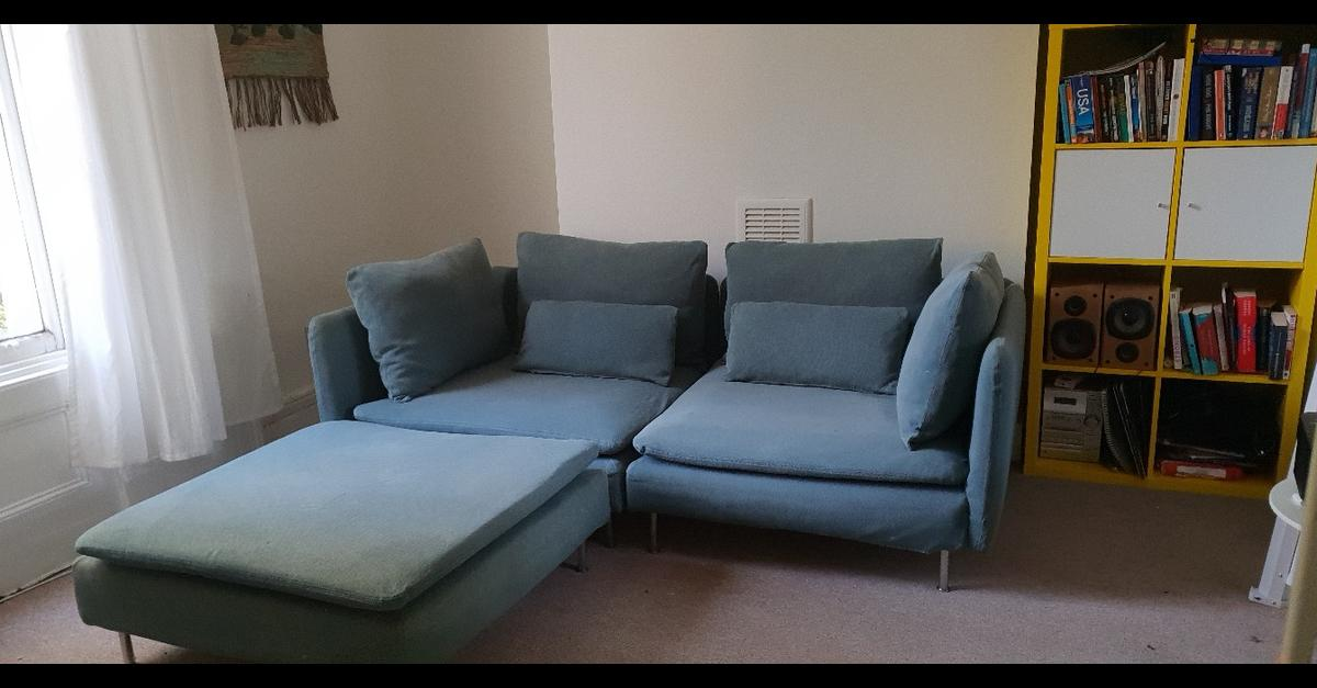 Prime Soderhamn Ikea Teal Sofa With Foot Stool Ocoug Best Dining Table And Chair Ideas Images Ocougorg