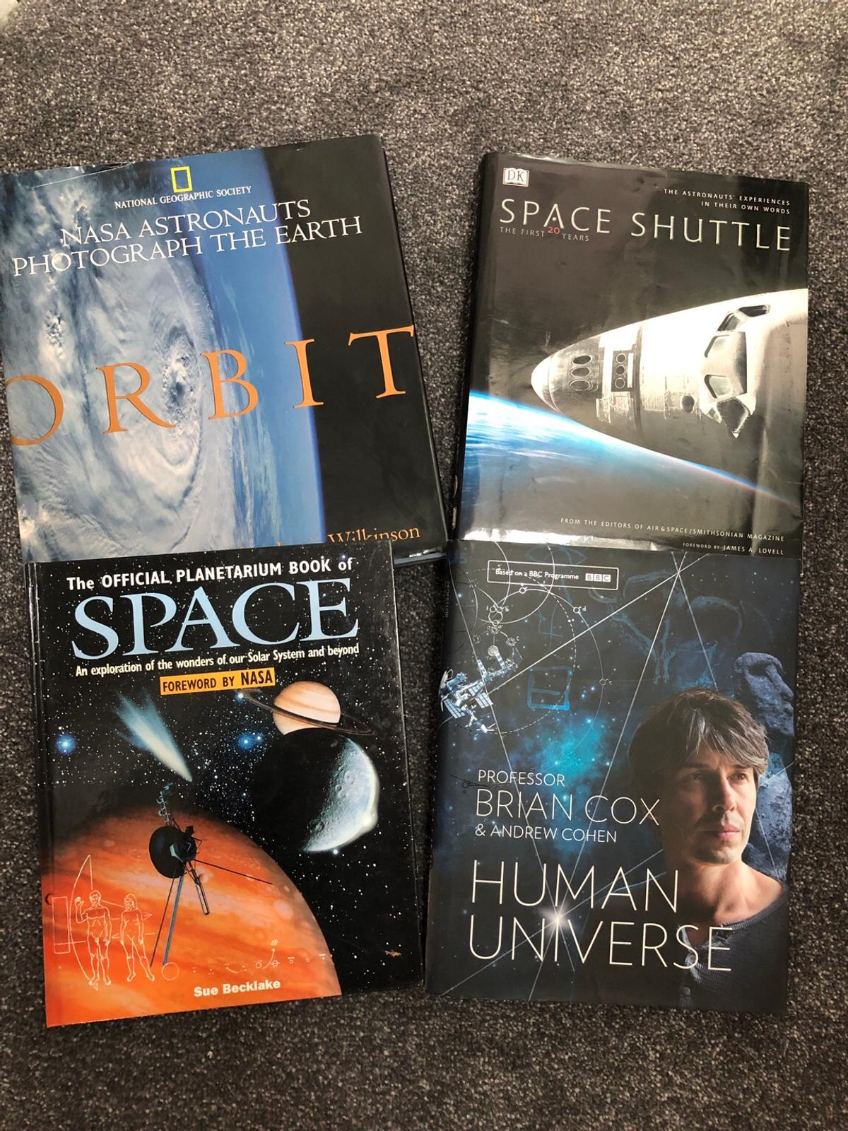 4x Large hard back SPACE books