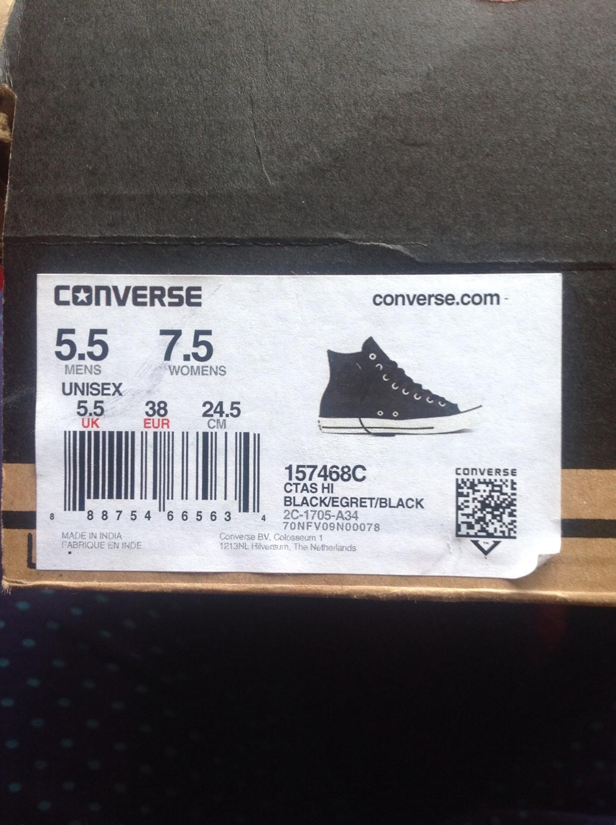Converse trainers leather BNIB size 5.5 in B38 Birmingham for