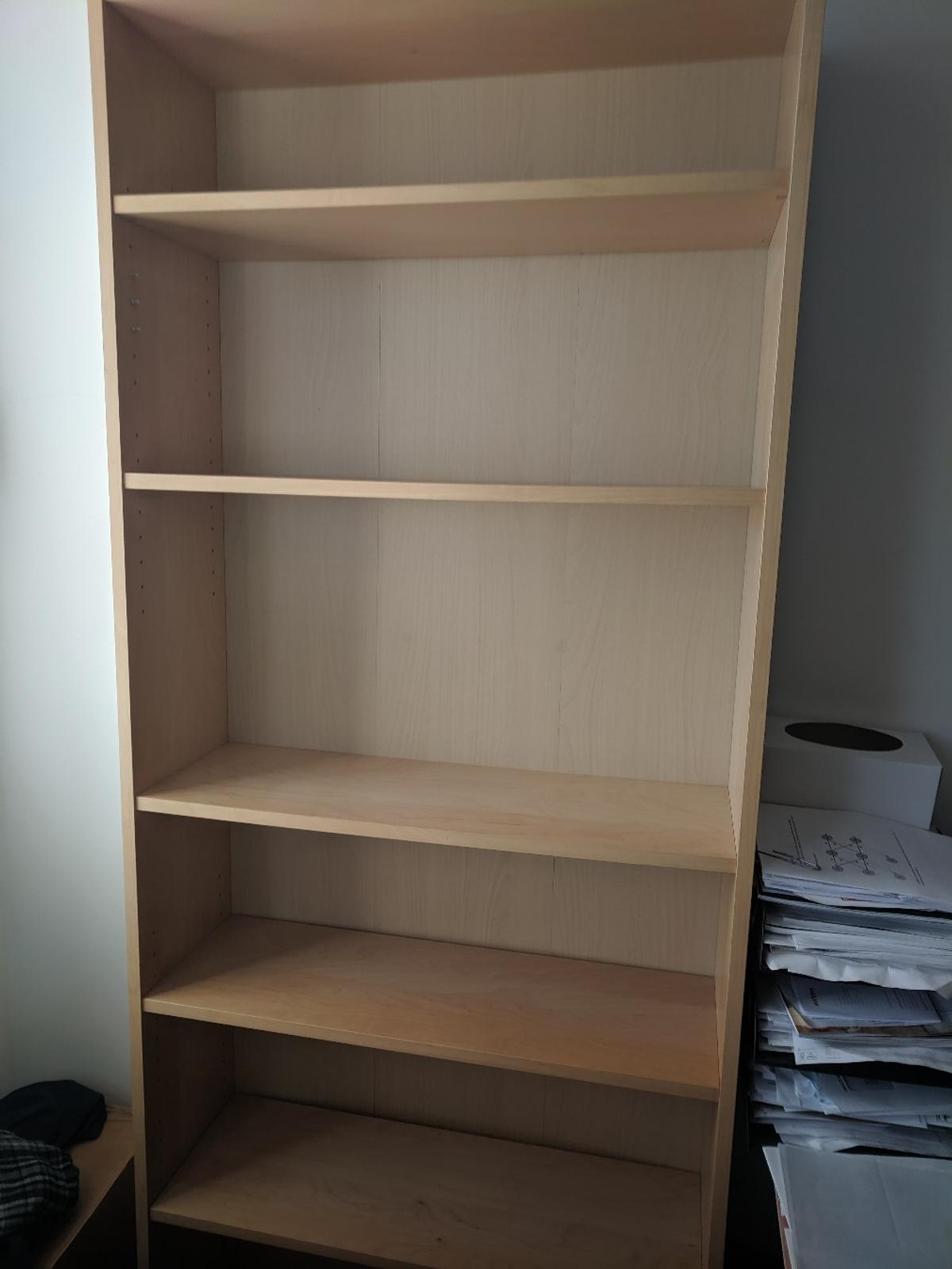 1 X Ikea Billy Bookcase Beech Immaculate