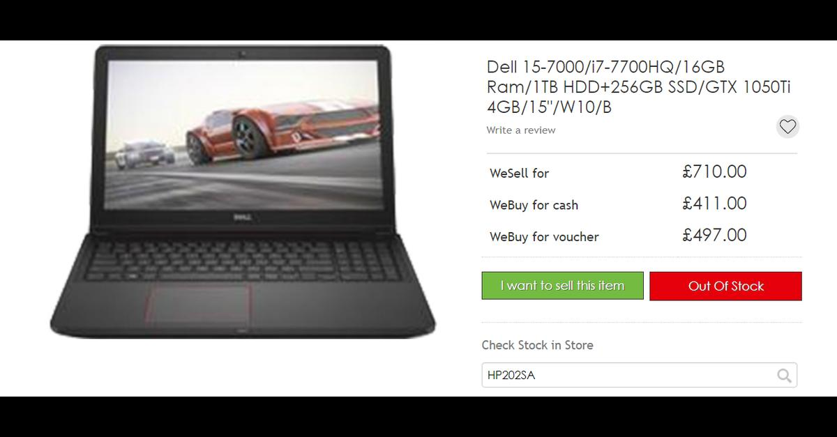 Gaming Laptop - Dell Inspiron 15 7700 in HP20 Aylesbury for