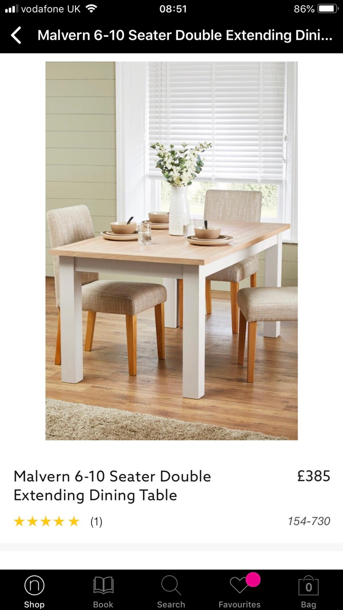 Superb Next Malvern Extending Table Benches In B91 Solihull For Lamtechconsult Wood Chair Design Ideas Lamtechconsultcom