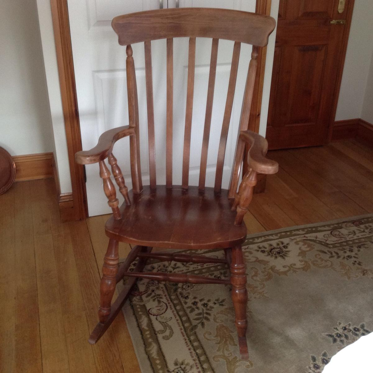 Astounding Large Wooden Rocking Chair Bralicious Painted Fabric Chair Ideas Braliciousco