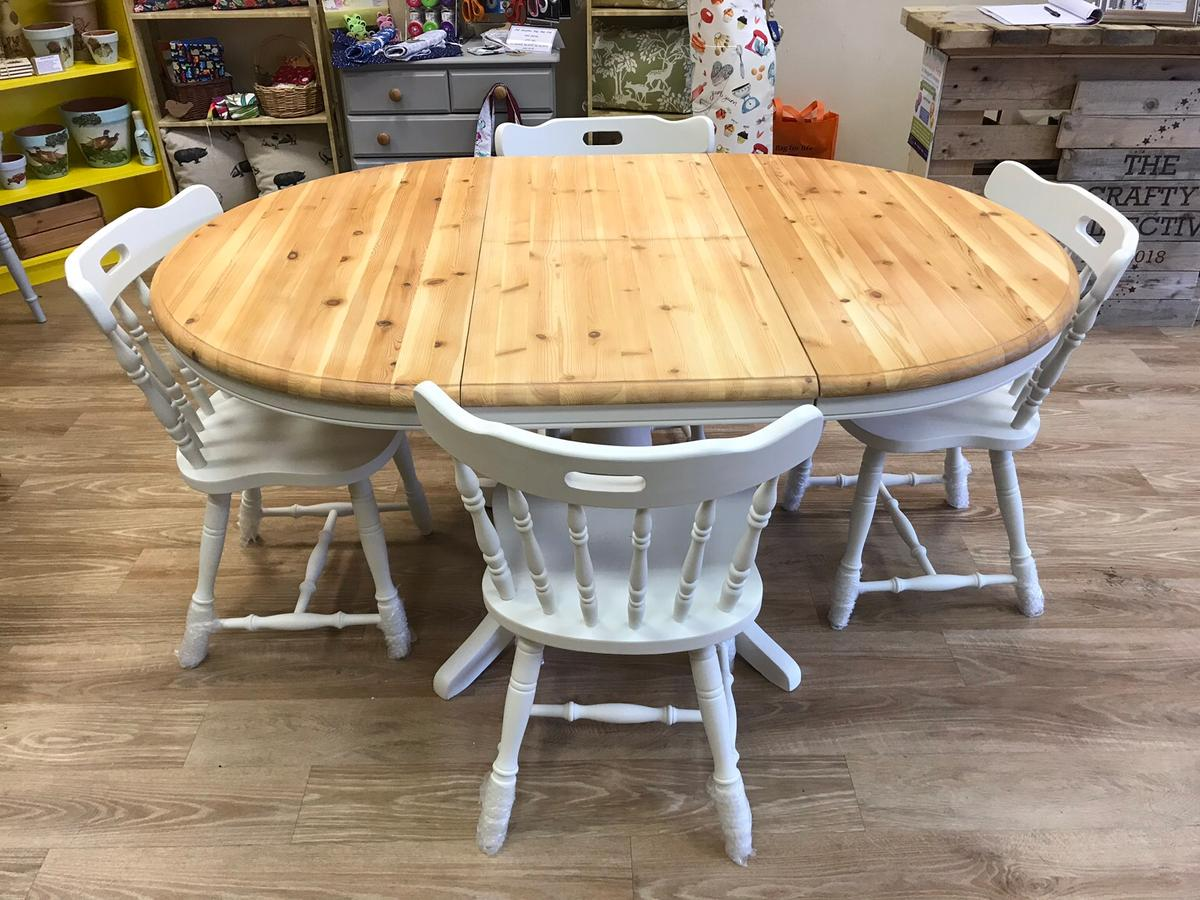 Solid Pine Round Dining Table With