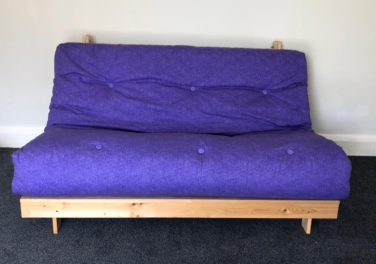 Double Fouton Sofa Bed Purple In Tw7