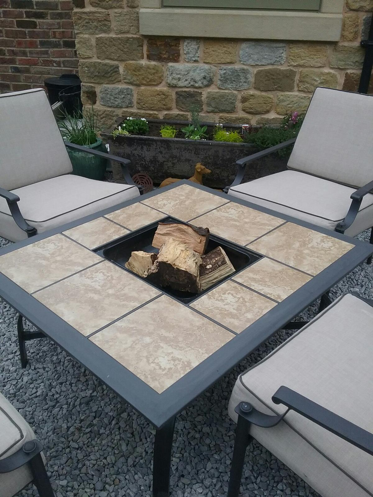 Garden Funiture Patio Fire Pit Table