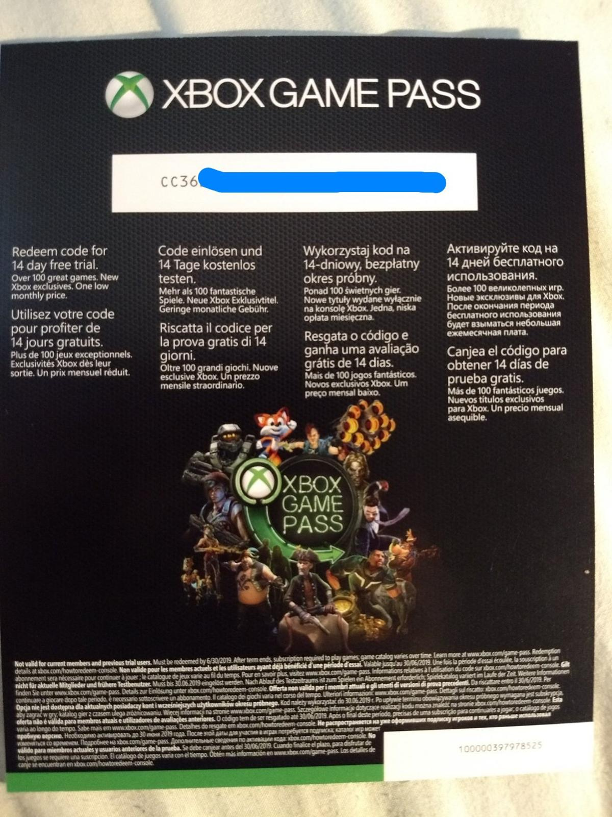 Xbox Game Pass Xbox Live Gold 14 Day Trial In London For