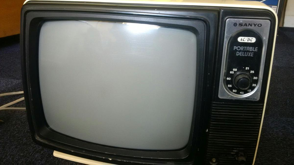 Sanyo Black and White Portable TV in North East Derbyshire