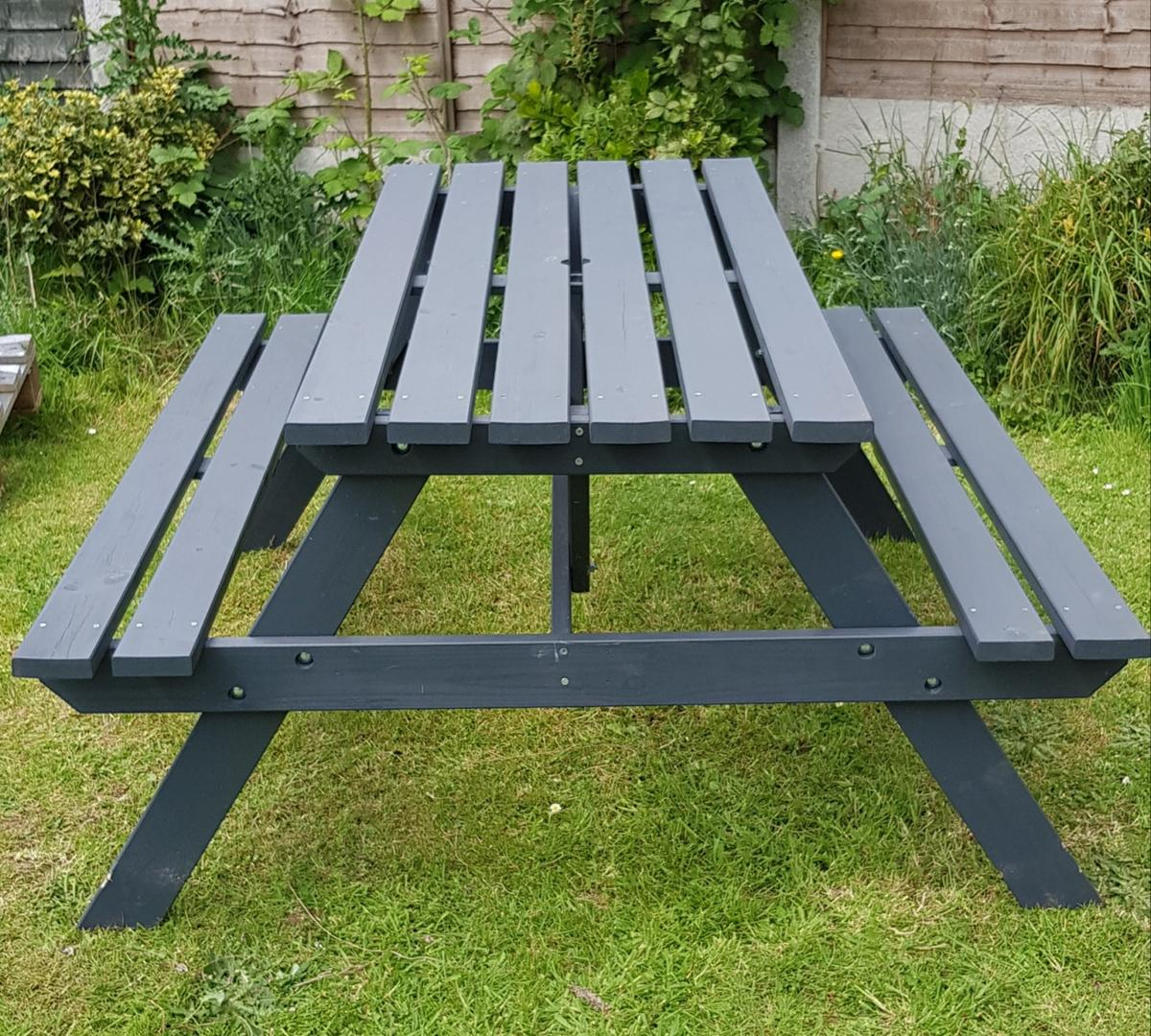 Admirable Used Argos Picnic Bench In Urban Slate In B60 Bromsgrove Andrewgaddart Wooden Chair Designs For Living Room Andrewgaddartcom