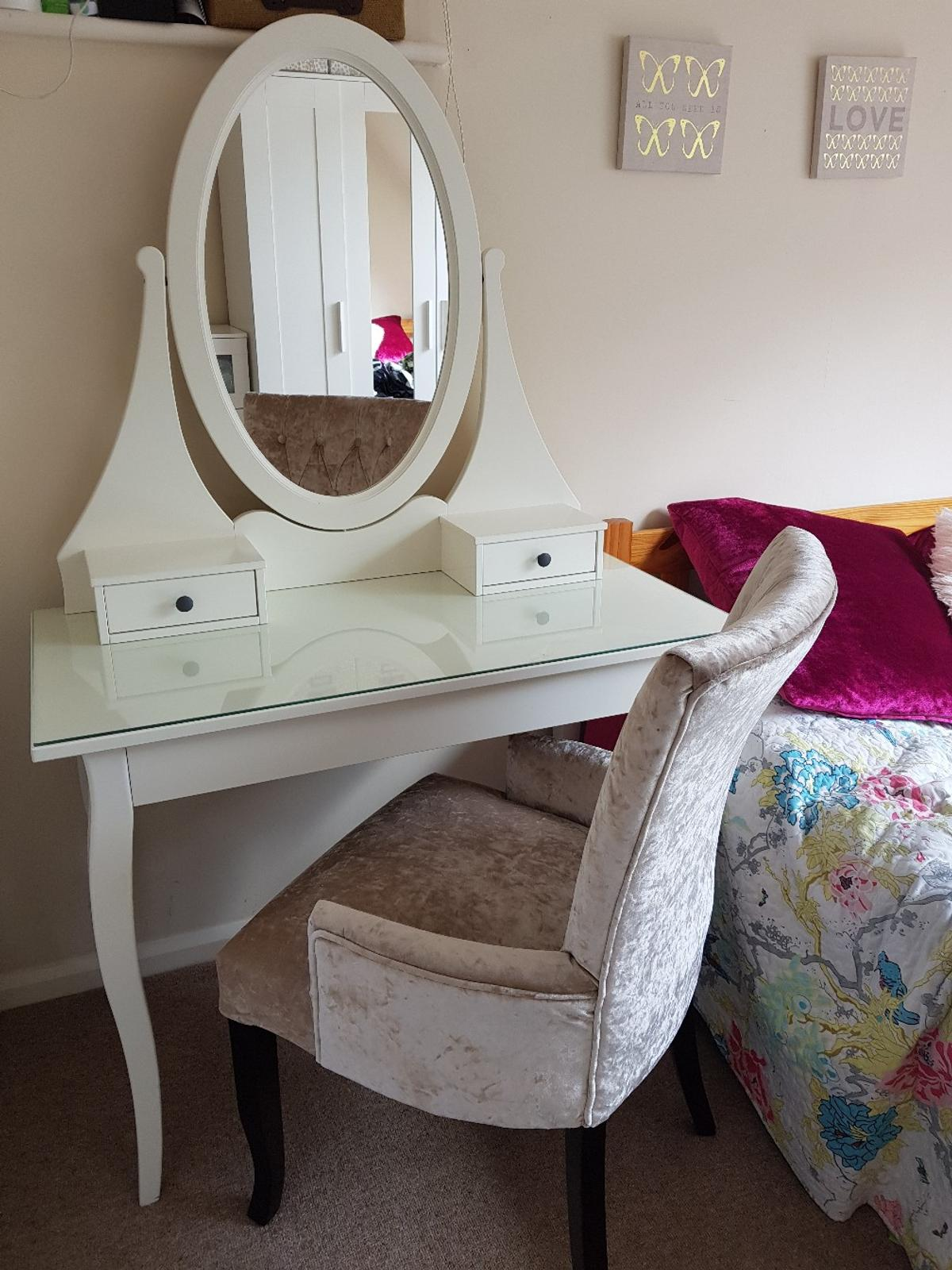 best cheap f96c8 b7774 Ikea dressing table with mirror & chair