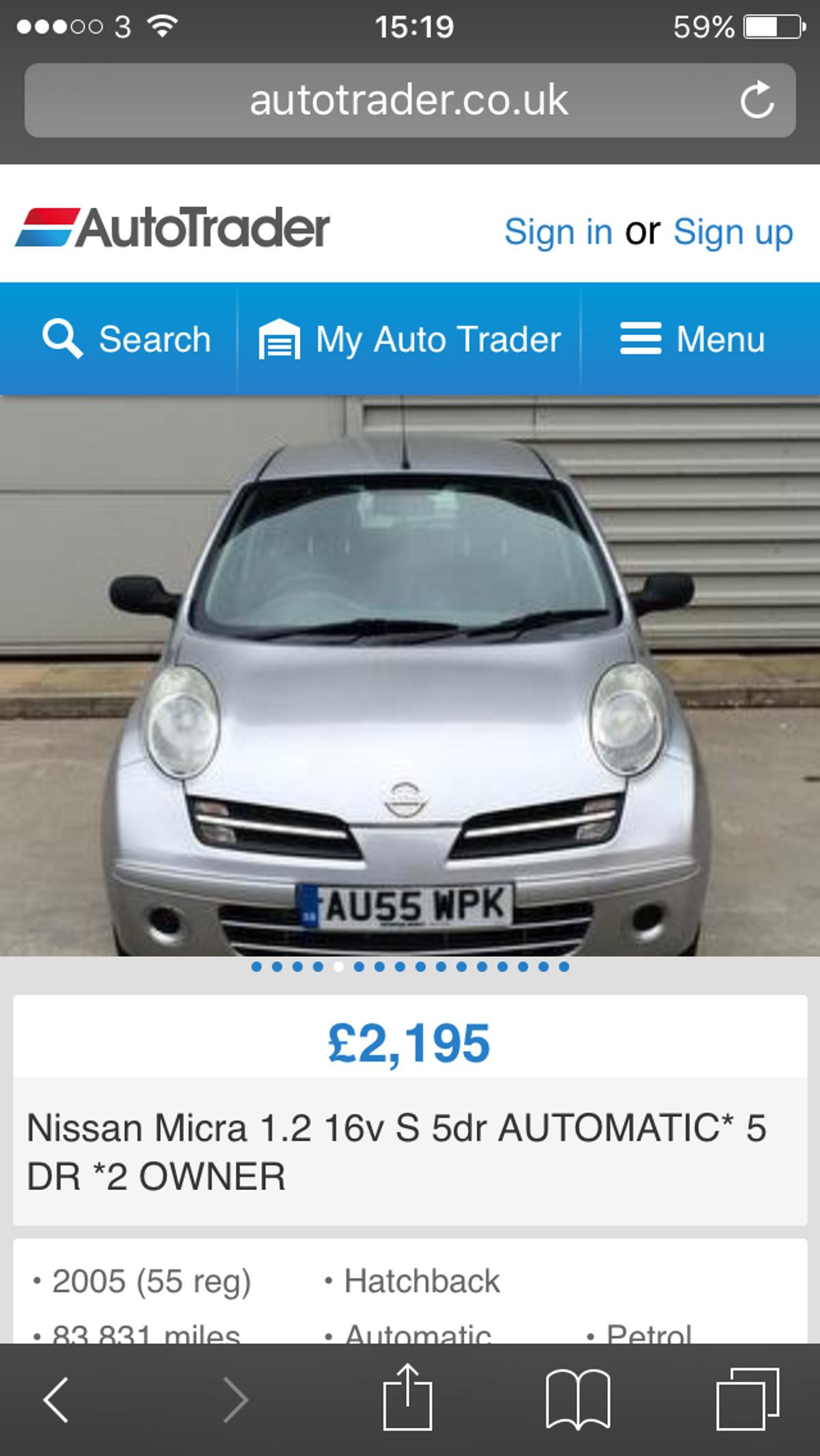 Automatic Car Nissan Micra In Bd8 Bradford For 1 400 00 For Sale Shpock