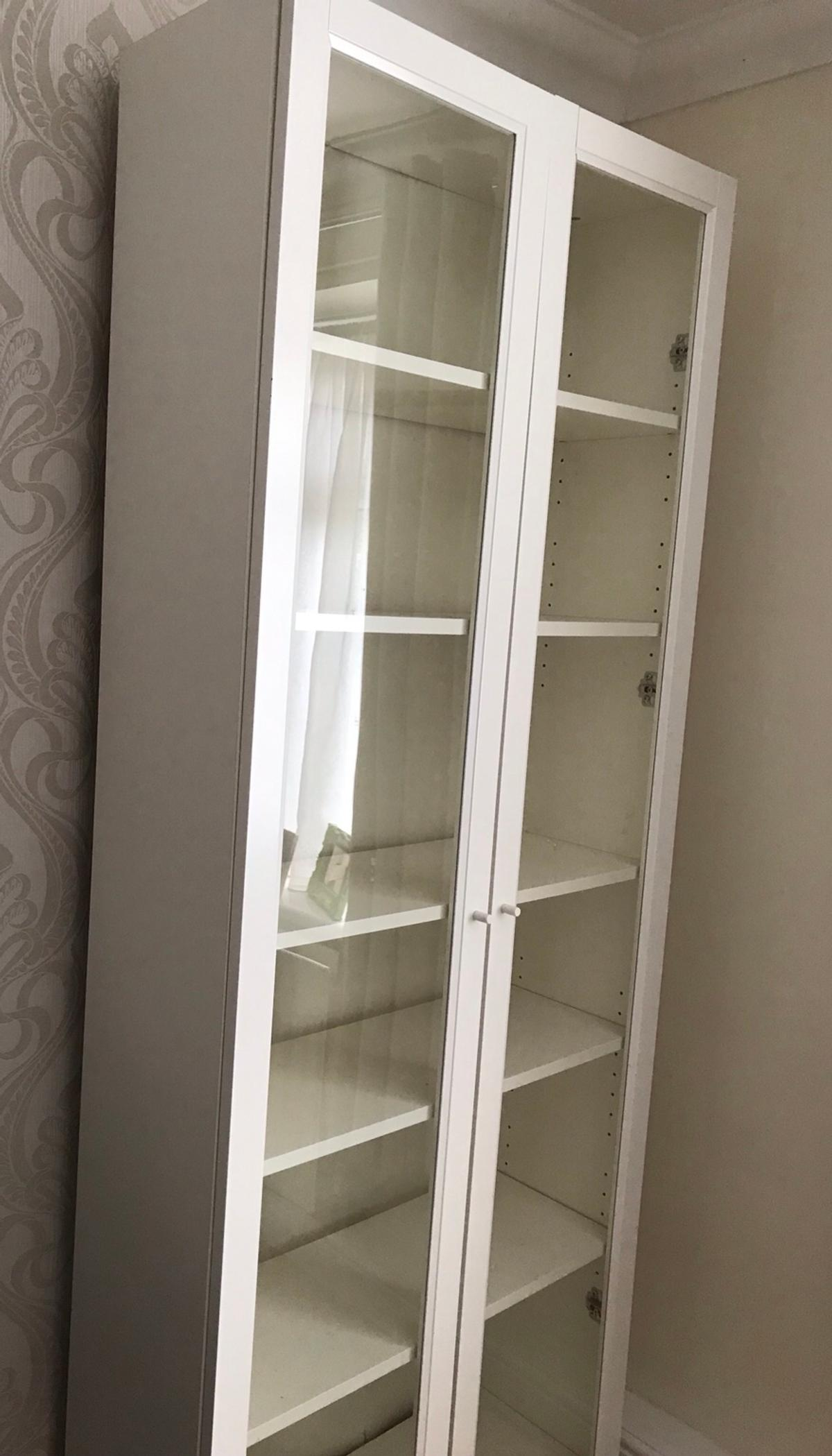 Billy Bookcase X 2 With Glass Doors In Stevenage Fur 100