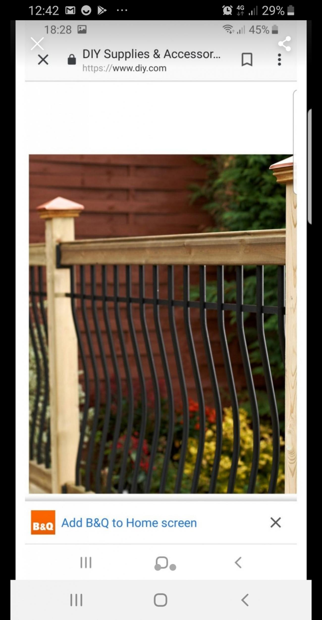Decking Balustrade Kit My Price 25 B Q 125 In Wakefield For 25 00 For Sale Shpock