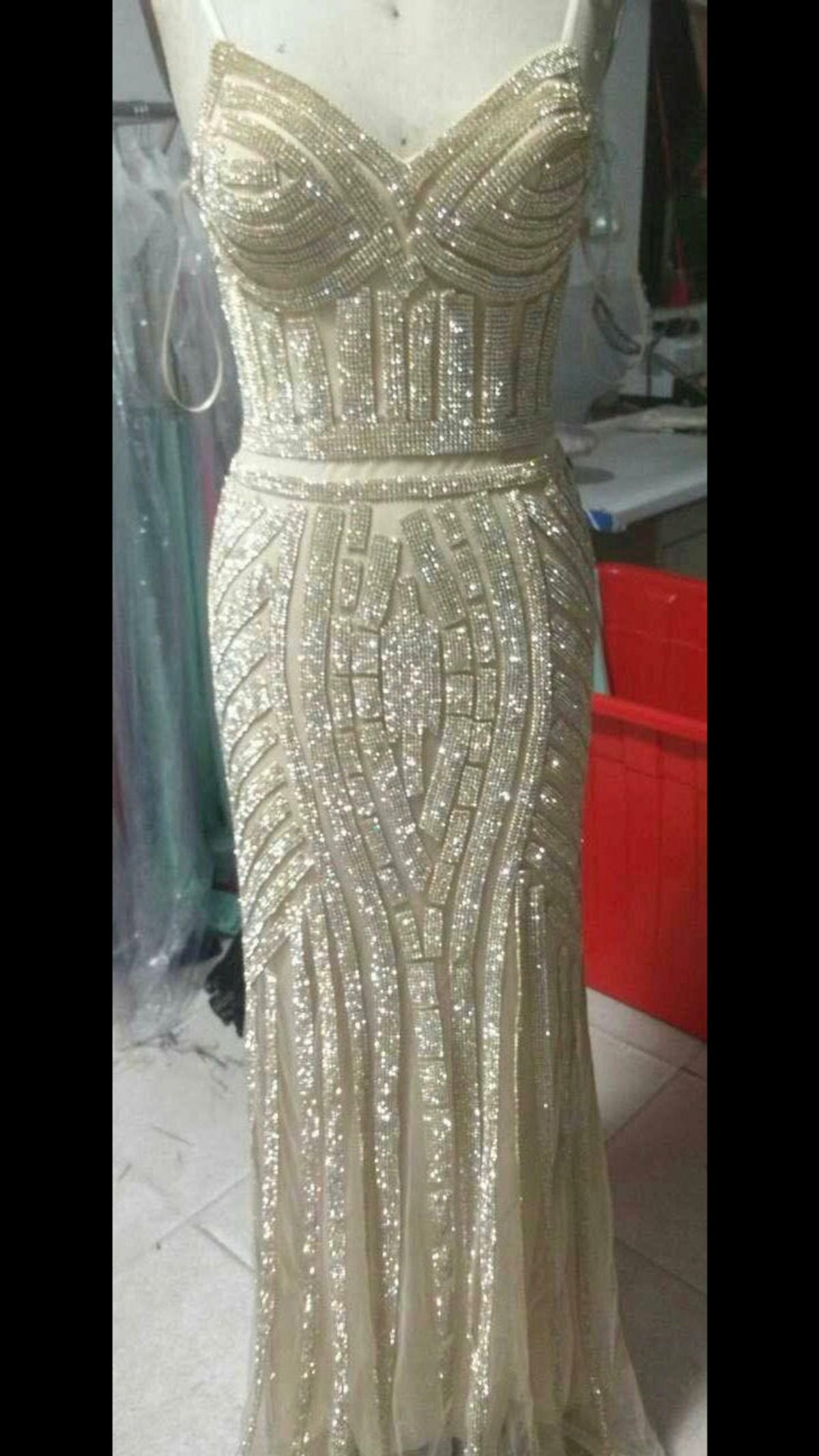 Abendkleid Gold lang