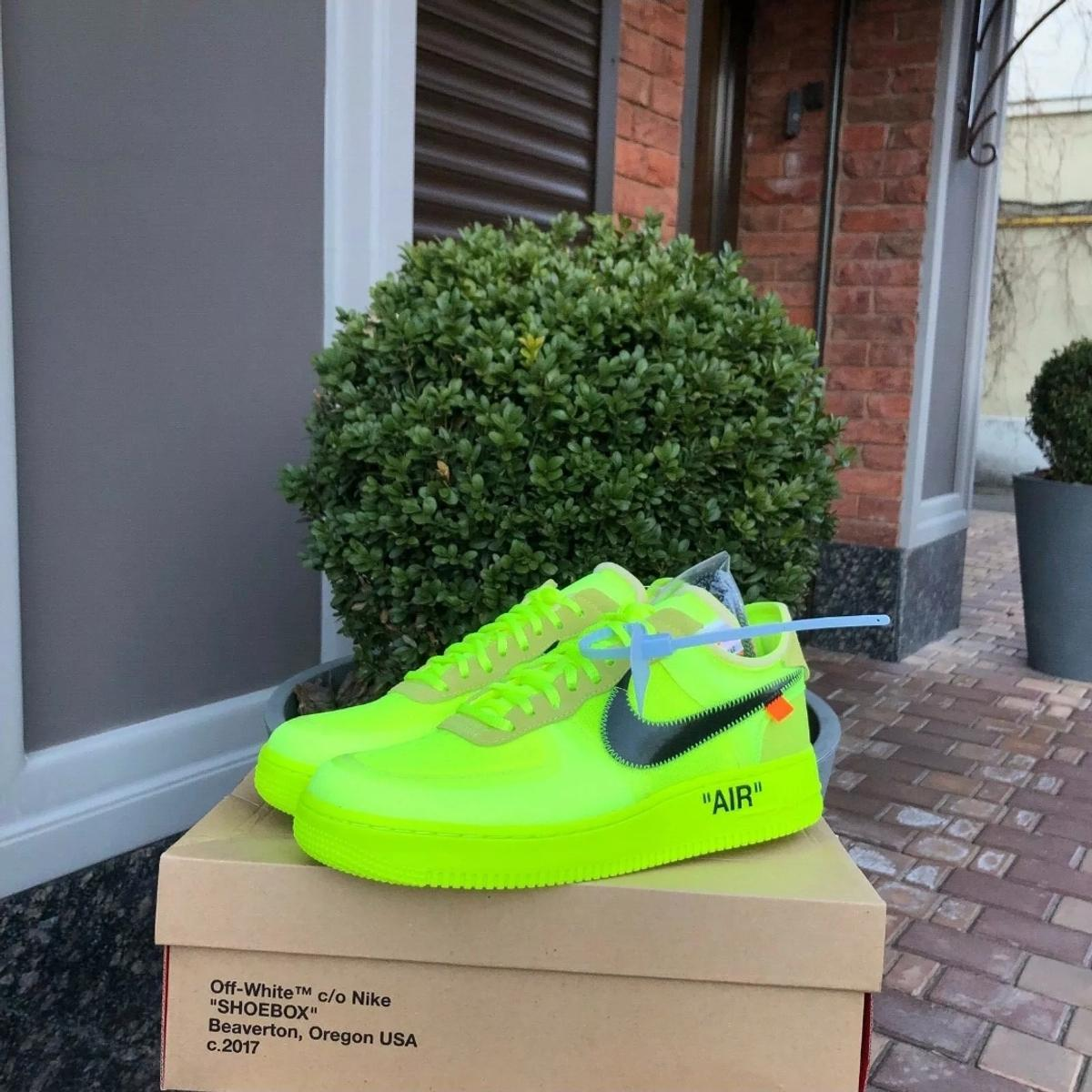 Off White X Nike Air Force 1 Volt In Ha4 London For 350 00 For