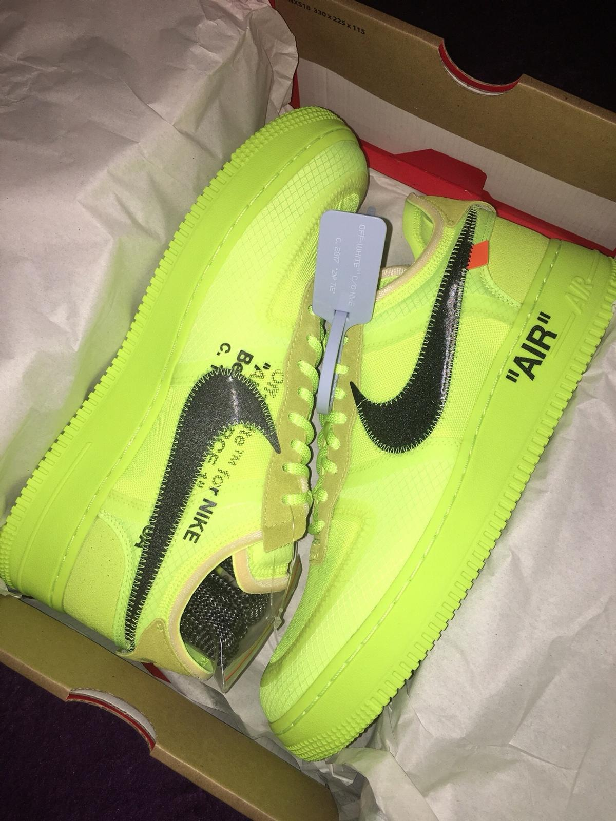 Nike air force 1 low off white volt size 9 UK in NE34
