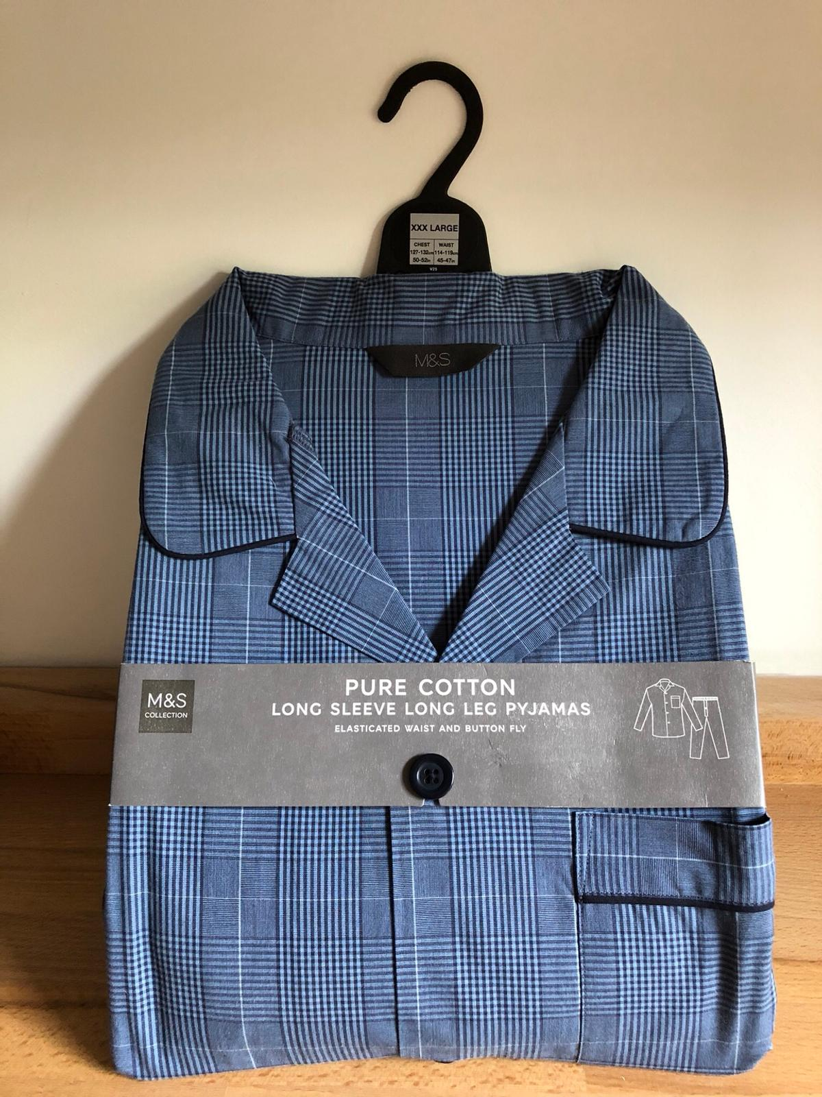 Men/'s Pure Cotton Pyjamas Marks and Spencer Large