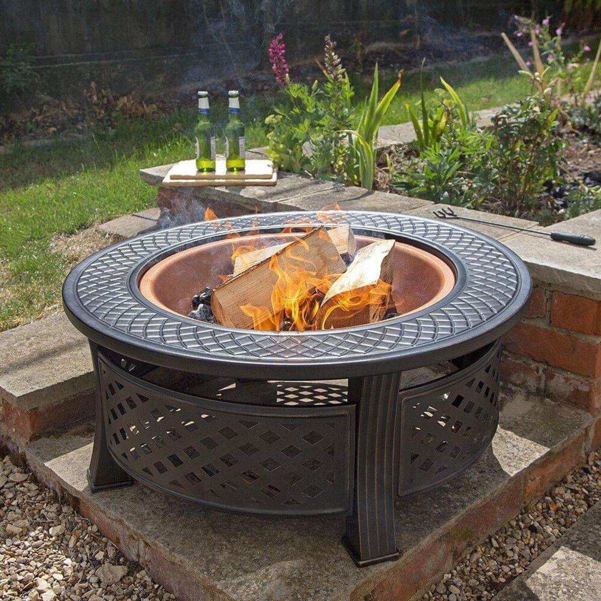Copper Round Steel Firepit Outdoor Chimenea In Ng7 Nottingham For 70 00 For Sale Shpock